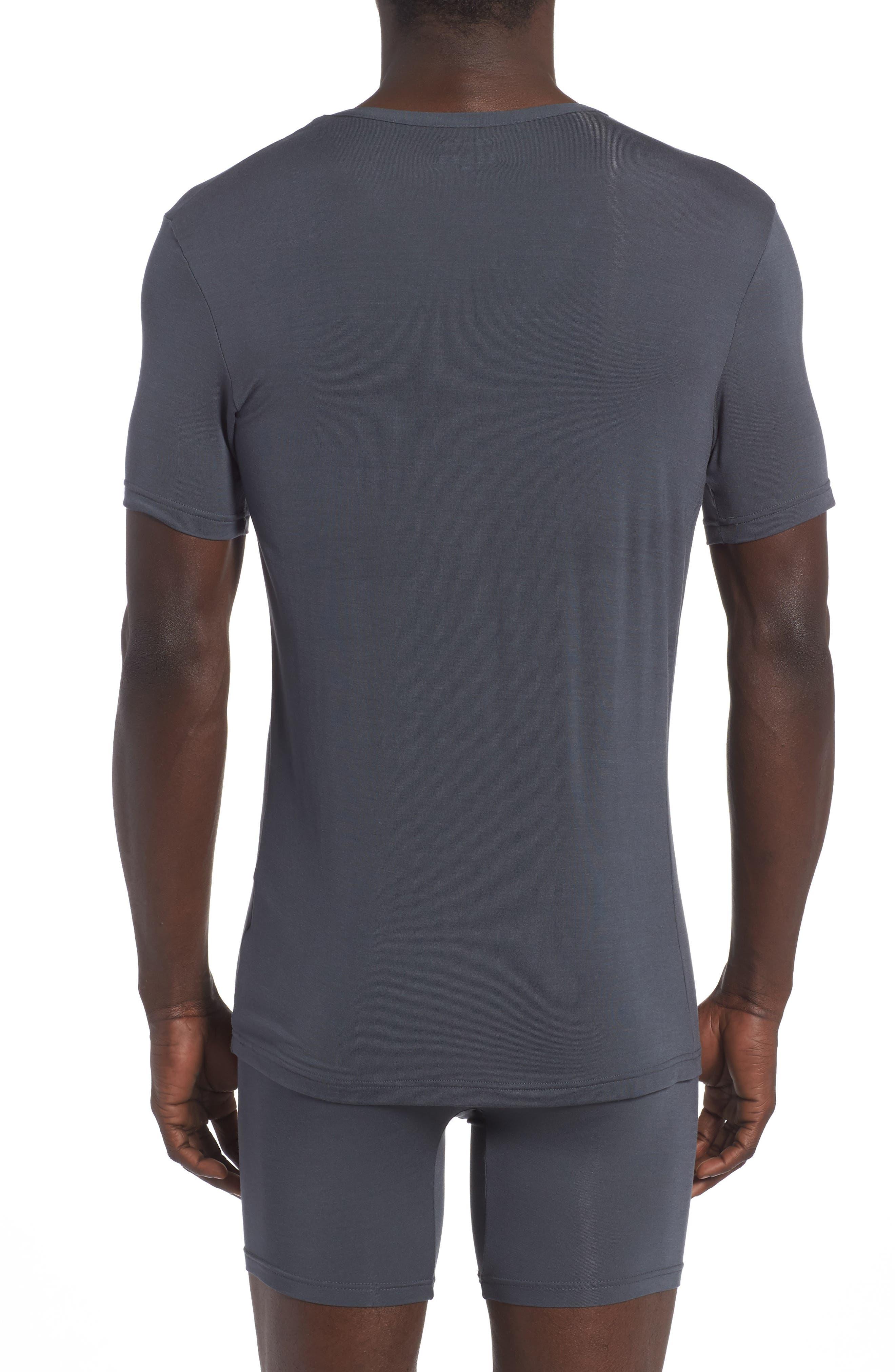 'U5563' V-Neck Micromodal T-Shirt,                             Alternate thumbnail 2, color,                             MINK