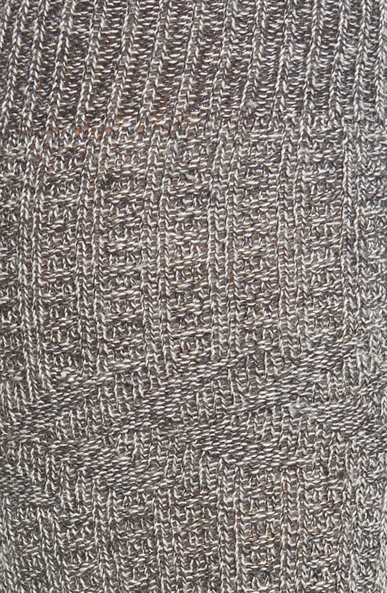Wheat Fields Knee High Socks,                             Alternate thumbnail 2, color,                             CHARCOAL HEATHER-WINTER WHITE