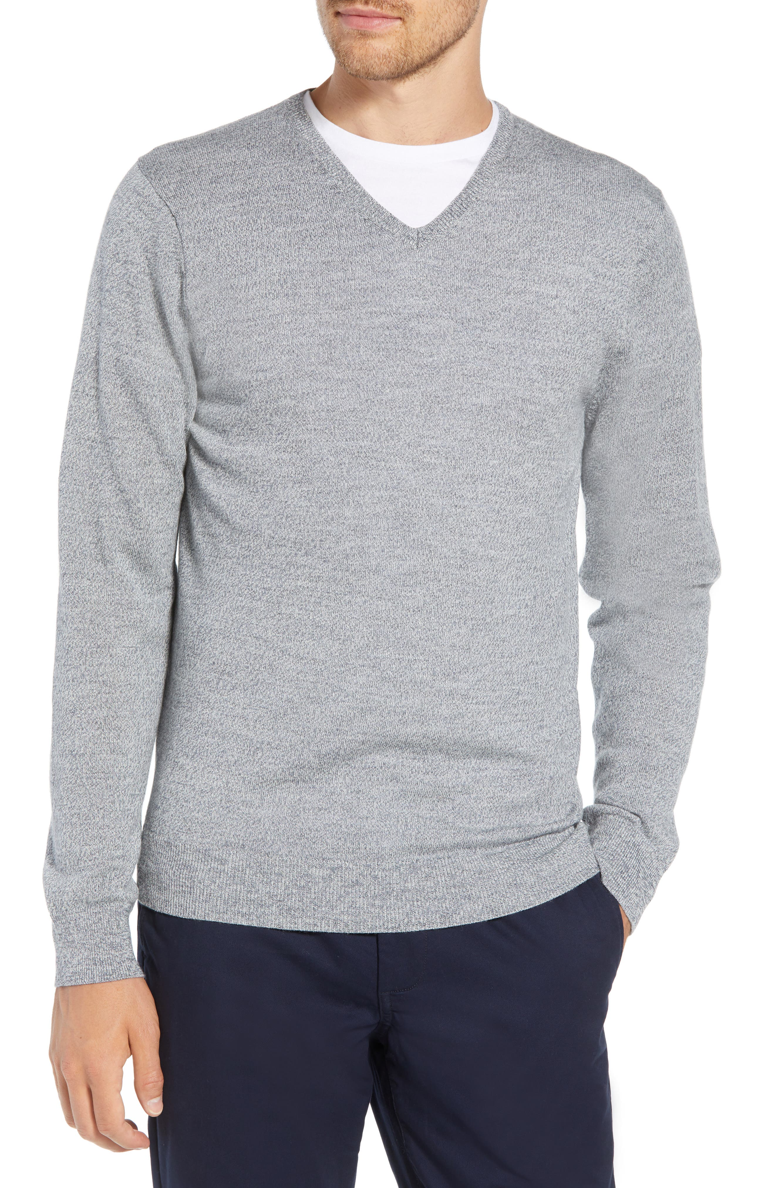 Slim Fit V-Neck Merino Wool Sweater,                         Main,                         color, 020