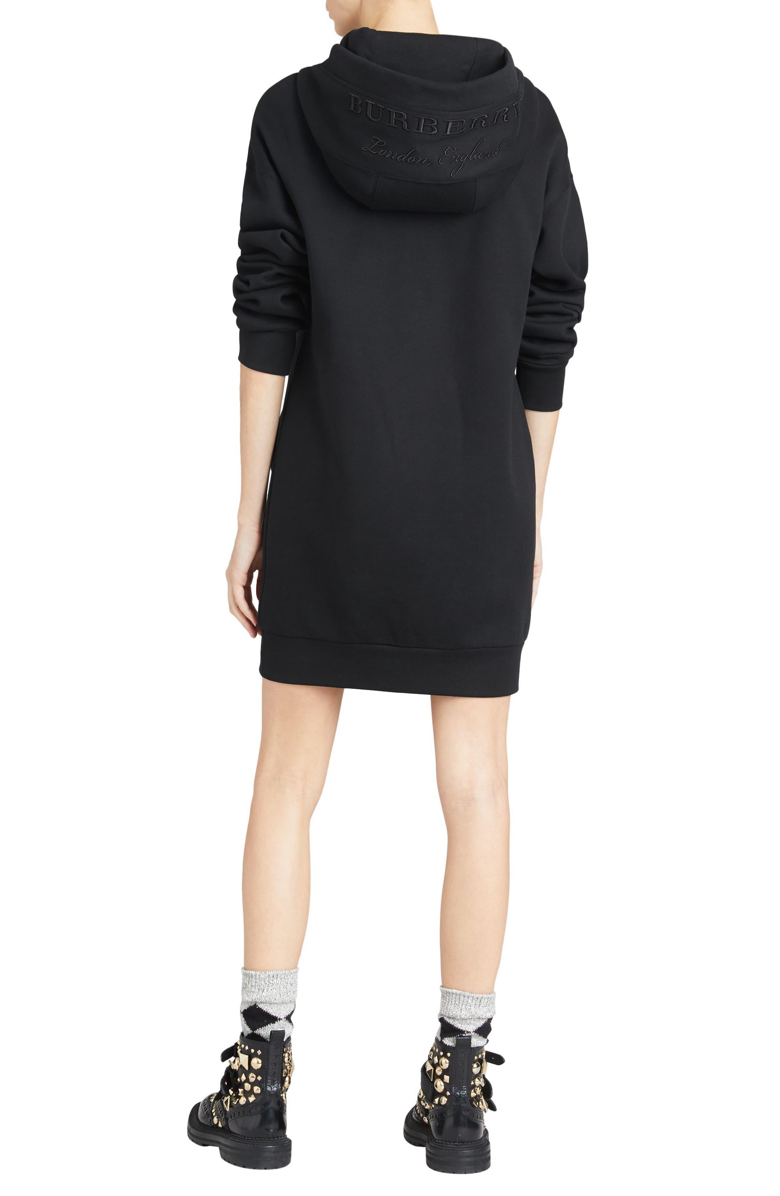 Cardeiver Jersey Sweatshirt Dress,                             Alternate thumbnail 6, color,                             001