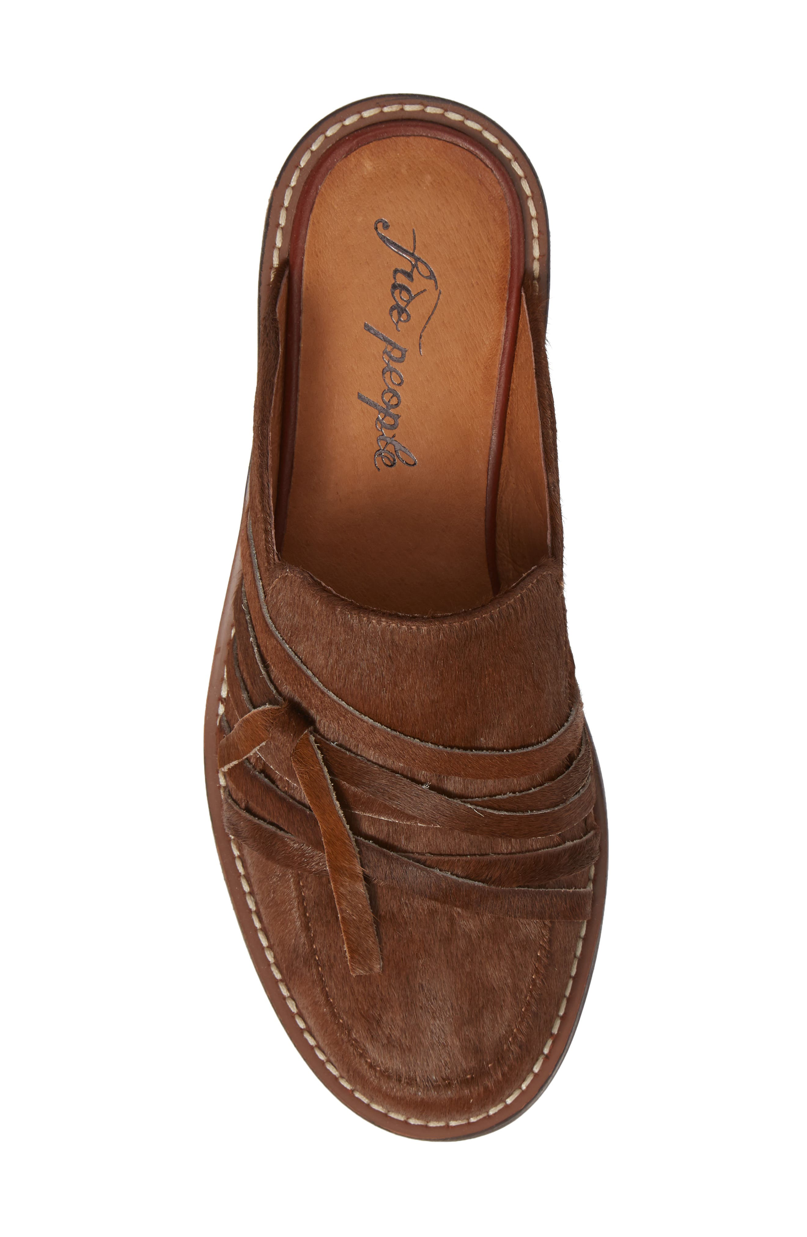 Saratoga Loafer Mule,                             Alternate thumbnail 5, color,                             COPPER CALF HAIR