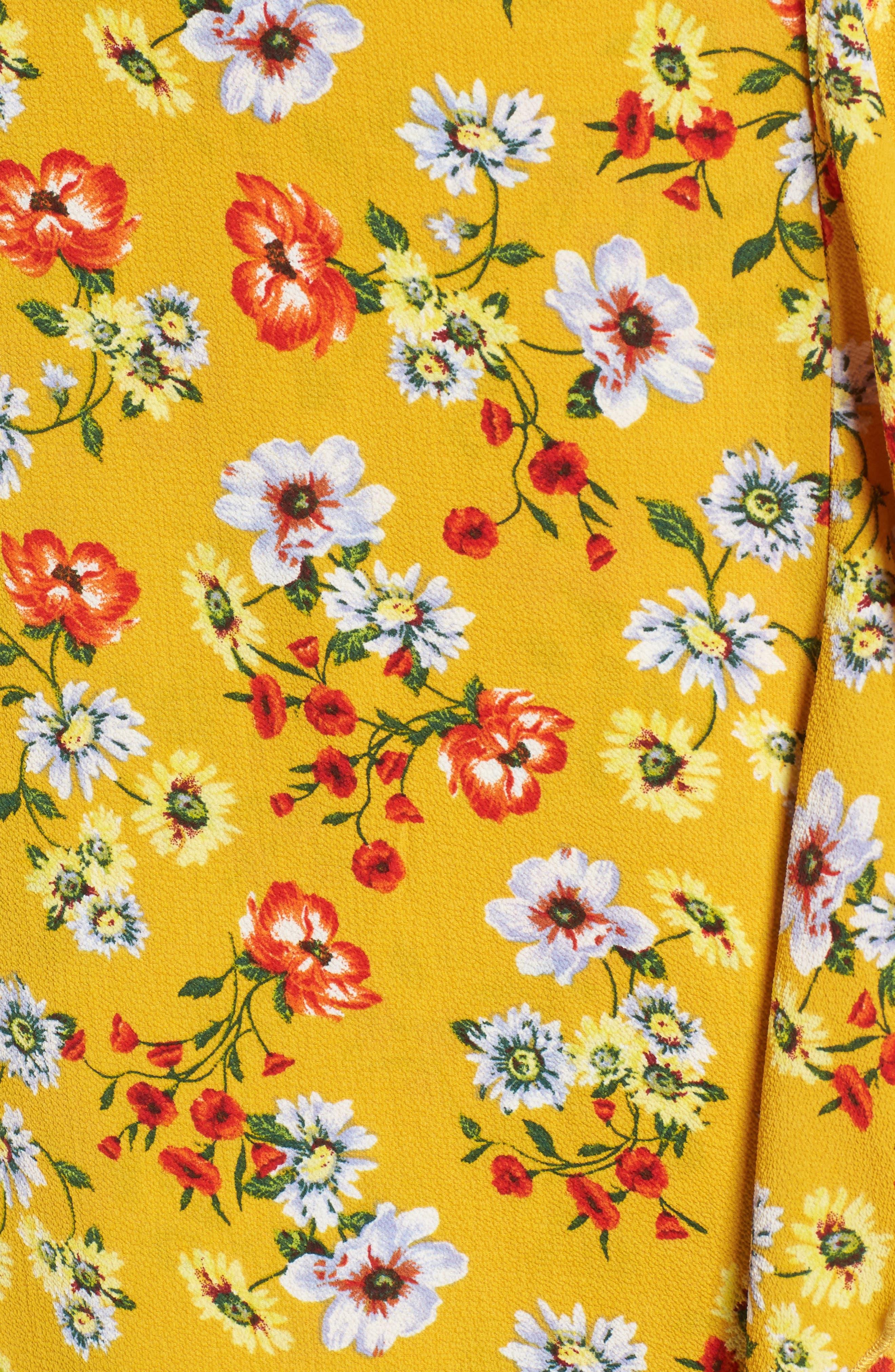 Ruffle Wrap Midi Dress,                             Alternate thumbnail 5, color,                             700