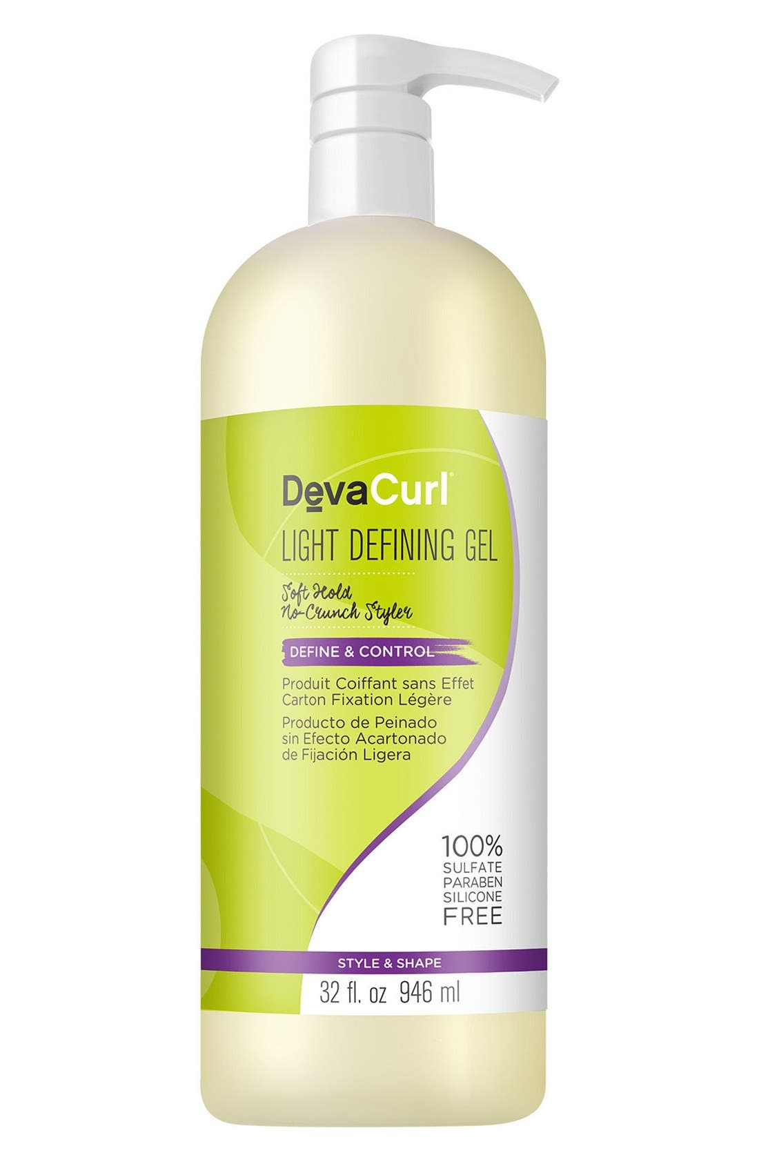 Light Defining Gel Soft Hold No-Crunch Styler,                             Main thumbnail 1, color,                             NO COLOR