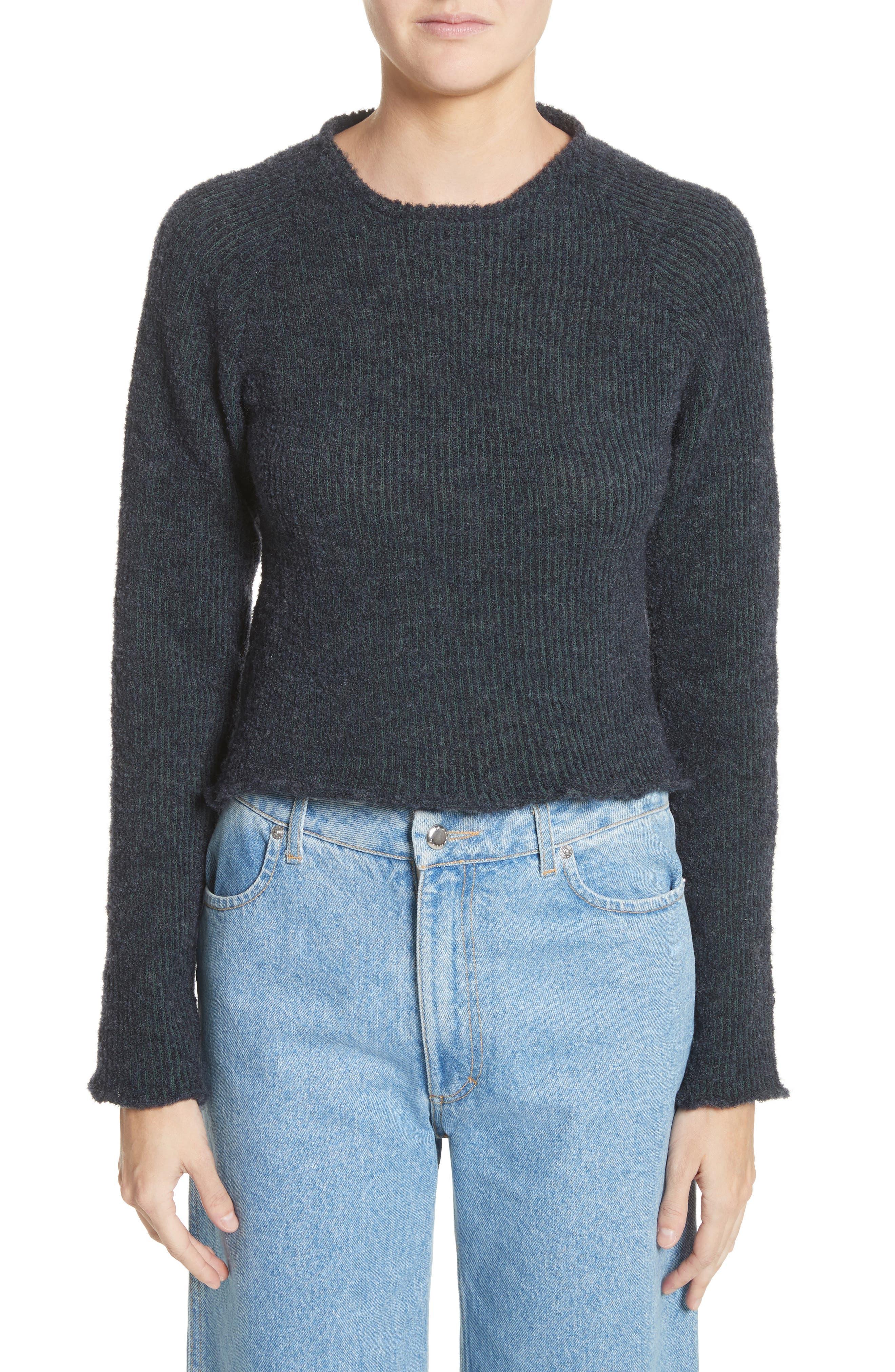 Raglan Pullover Sweater,                         Main,                         color, NAVY