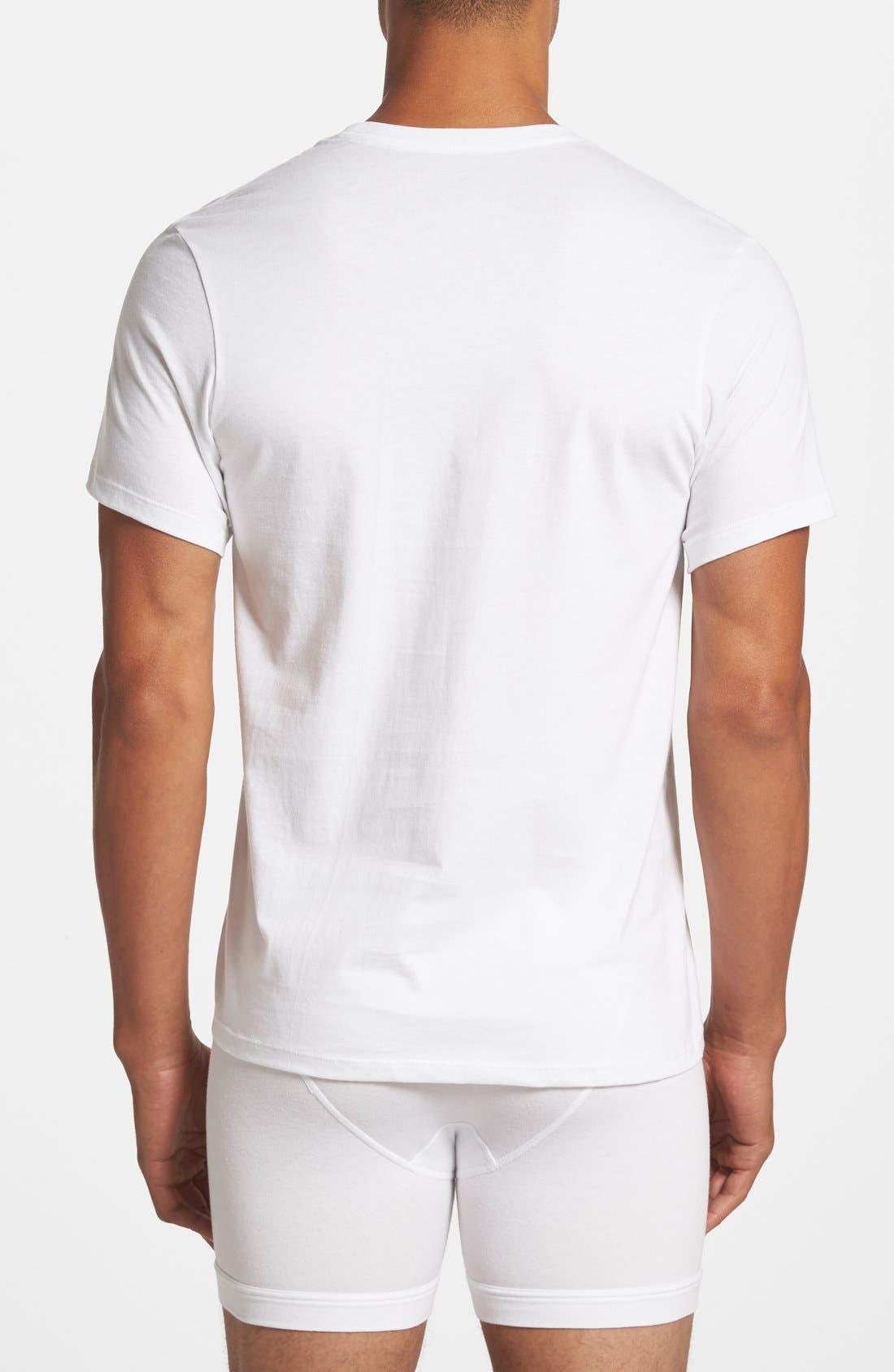 3-Pack Cotton T-Shirt,                             Alternate thumbnail 3, color,                             WHITE