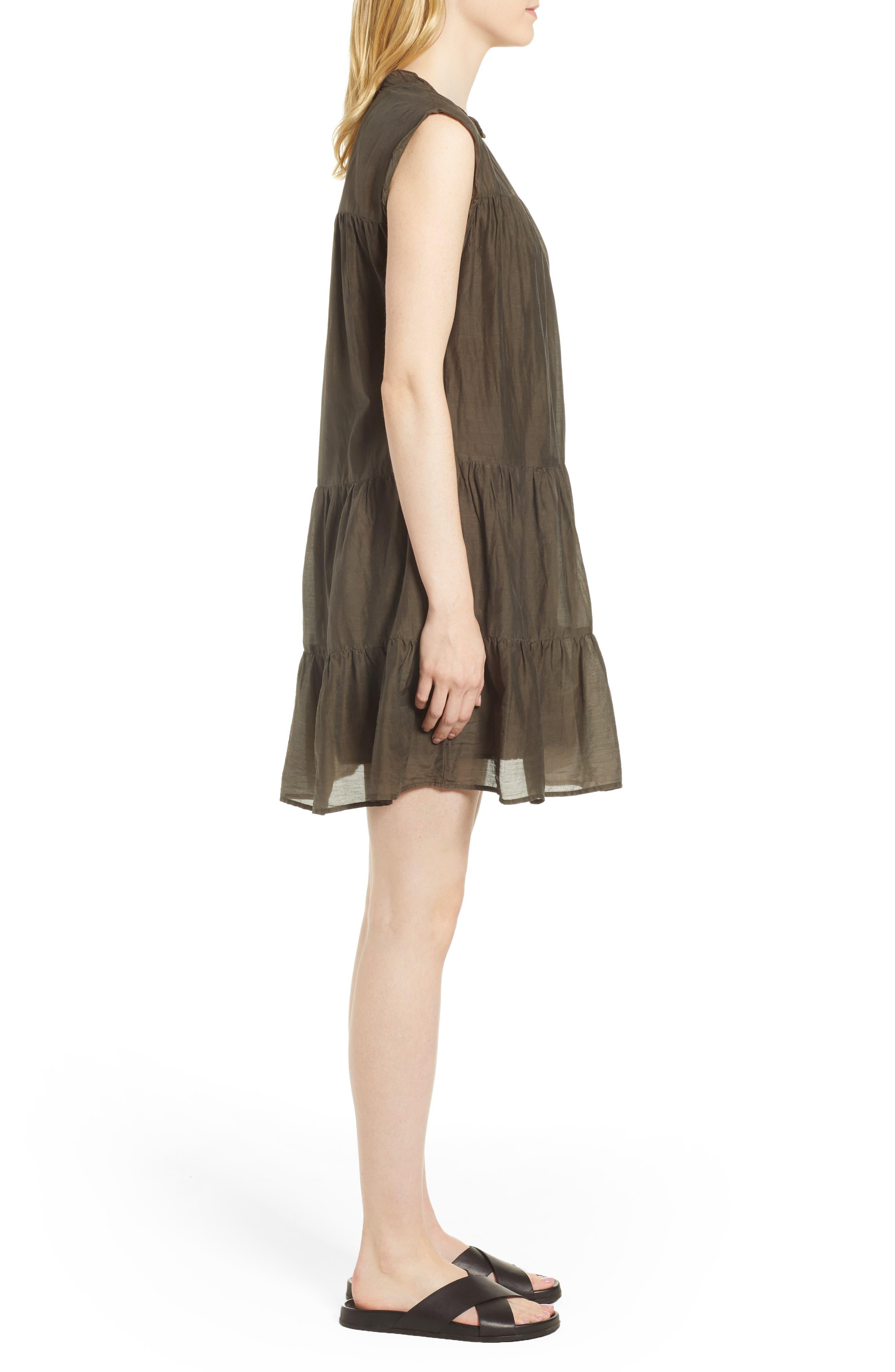 Cotton Silk Voile Tiered Dress,                             Alternate thumbnail 3, color,                             331