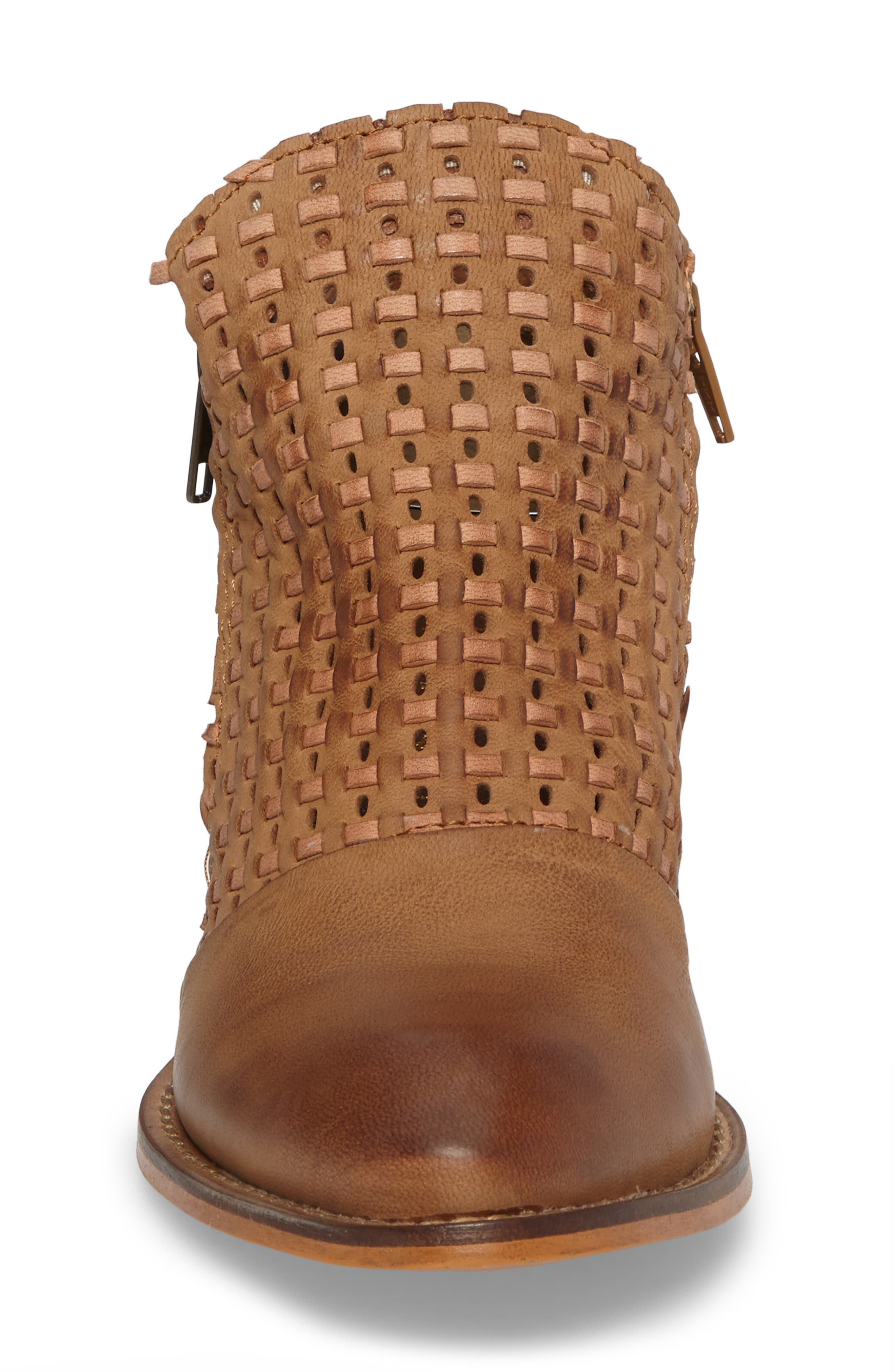 Ravi Perforated Woven Bootie,                             Alternate thumbnail 8, color,