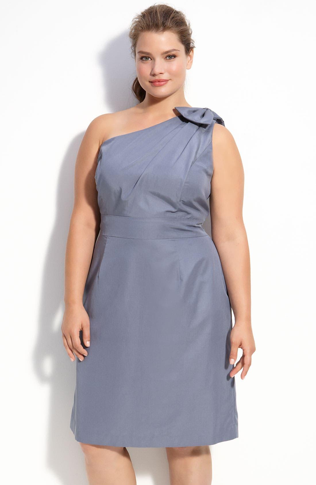 One Shoulder Dress,                             Main thumbnail 1, color,                             020