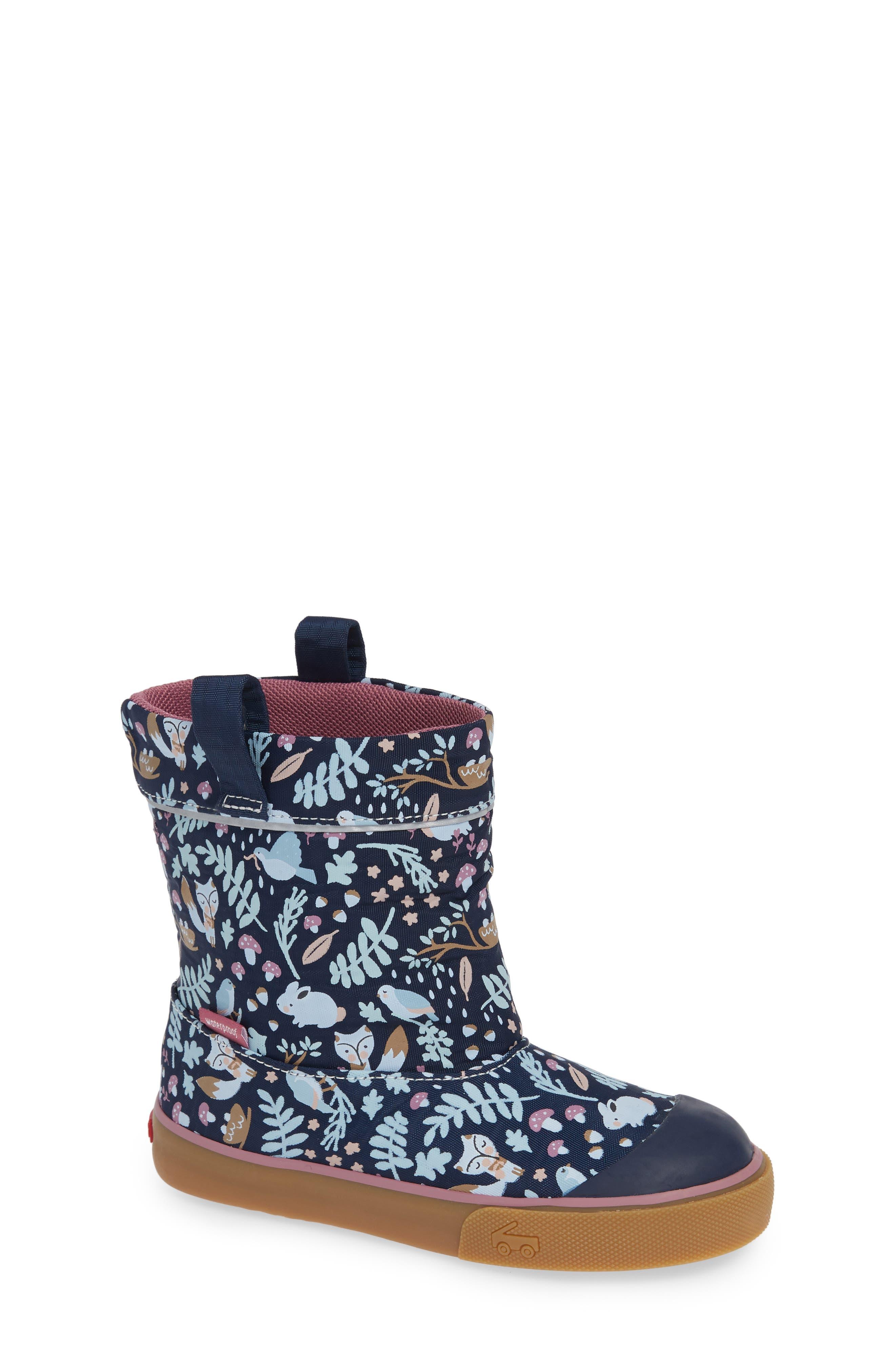 Montlake Waterproof Boot,                             Main thumbnail 1, color,                             NAVY WOODLAND