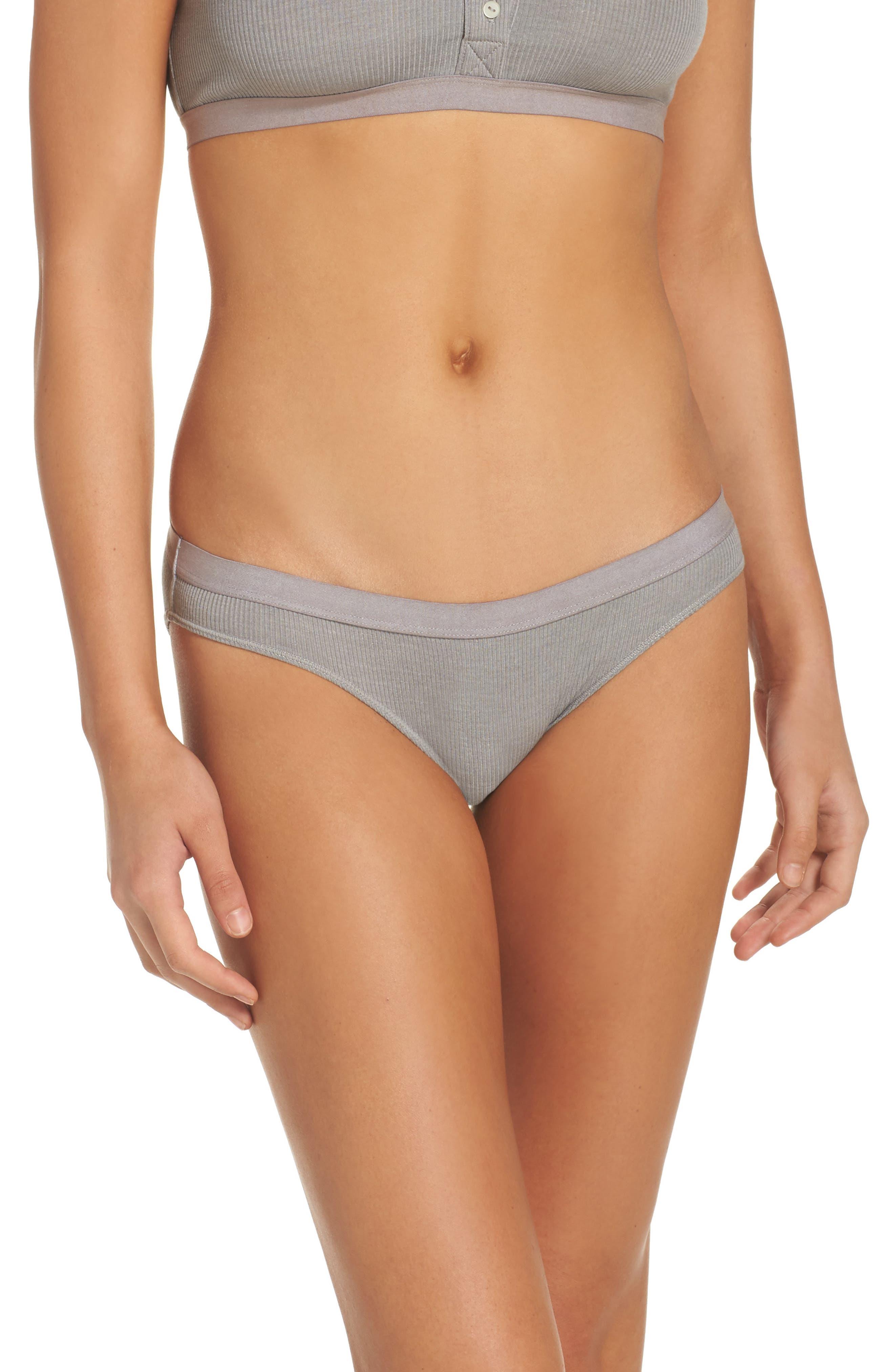 Rib Knit Bikini,                             Main thumbnail 1, color,                             058