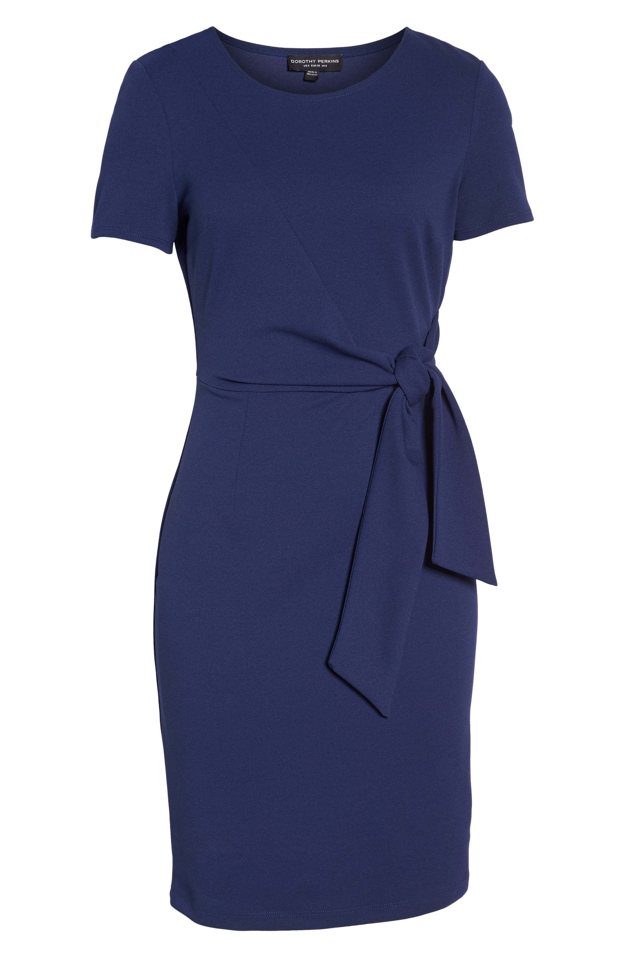 Tie Front Sheath Dress,                             Alternate thumbnail 7, color,                             400