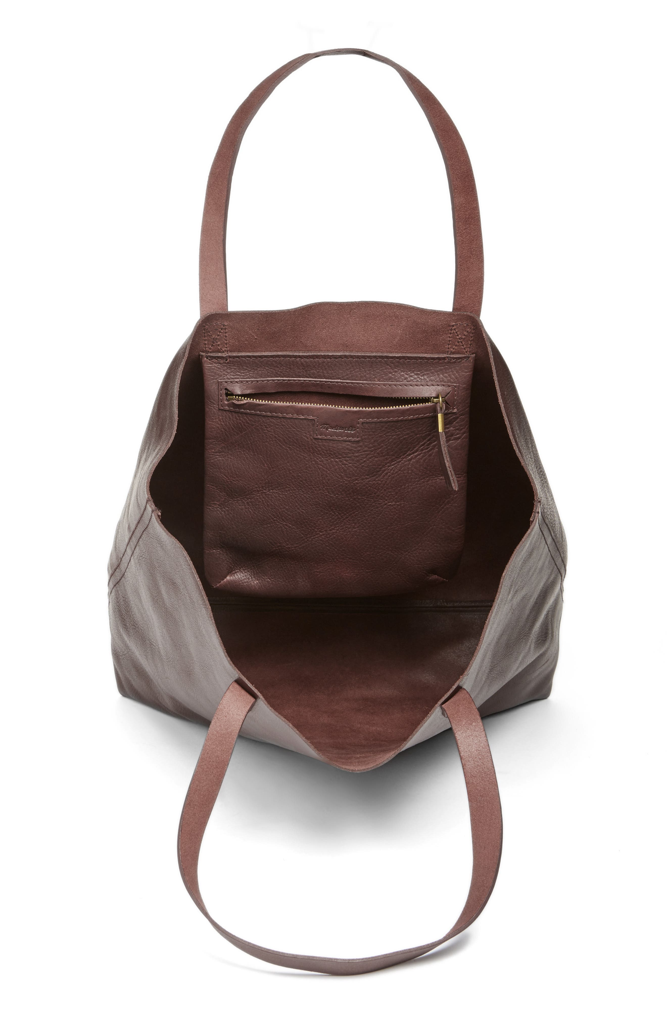 Transport Leather Tote,                             Alternate thumbnail 4, color,                             606