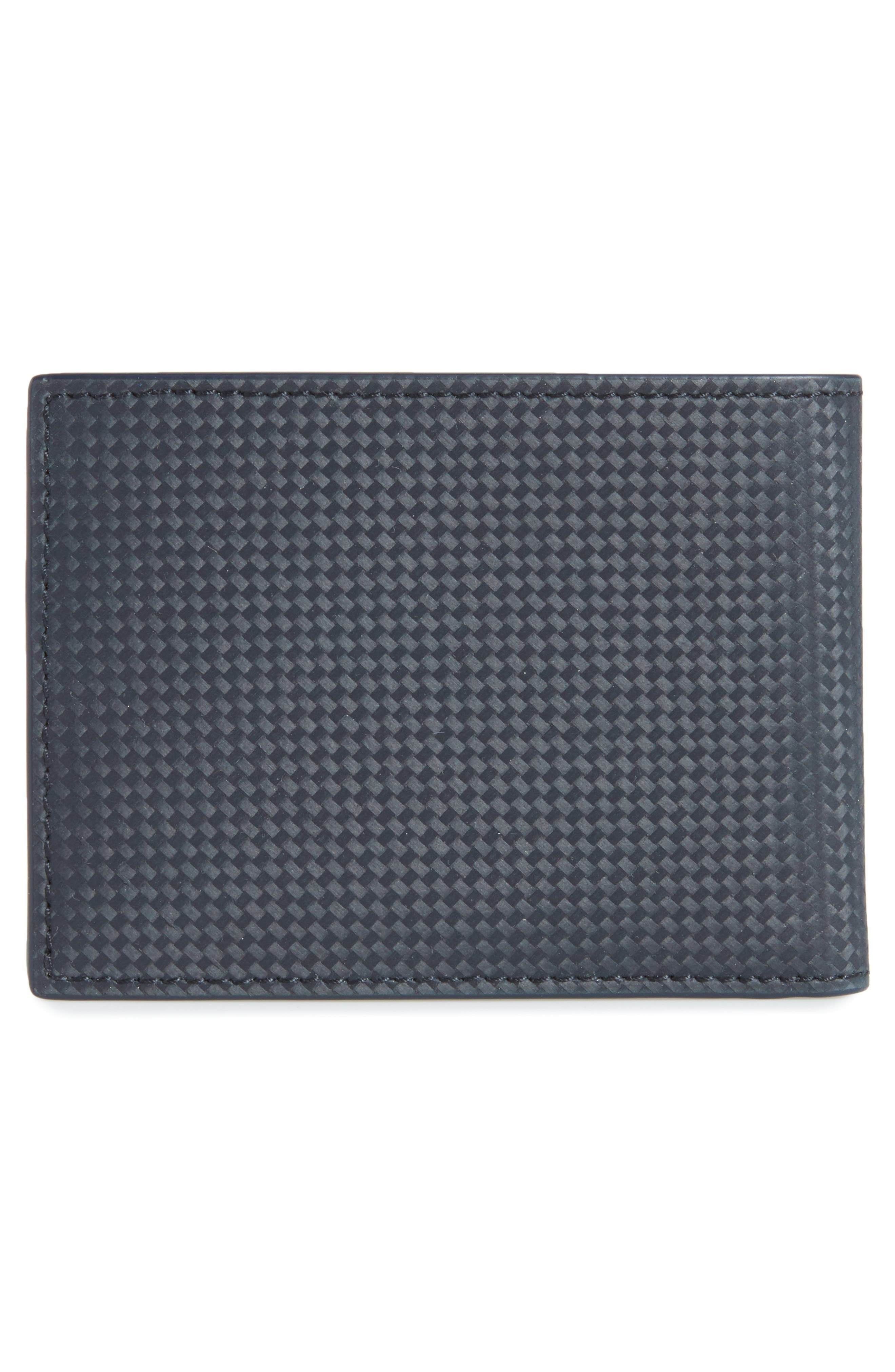 Extreme Bifold Leather Wallet,                             Alternate thumbnail 3, color,                             BLUE
