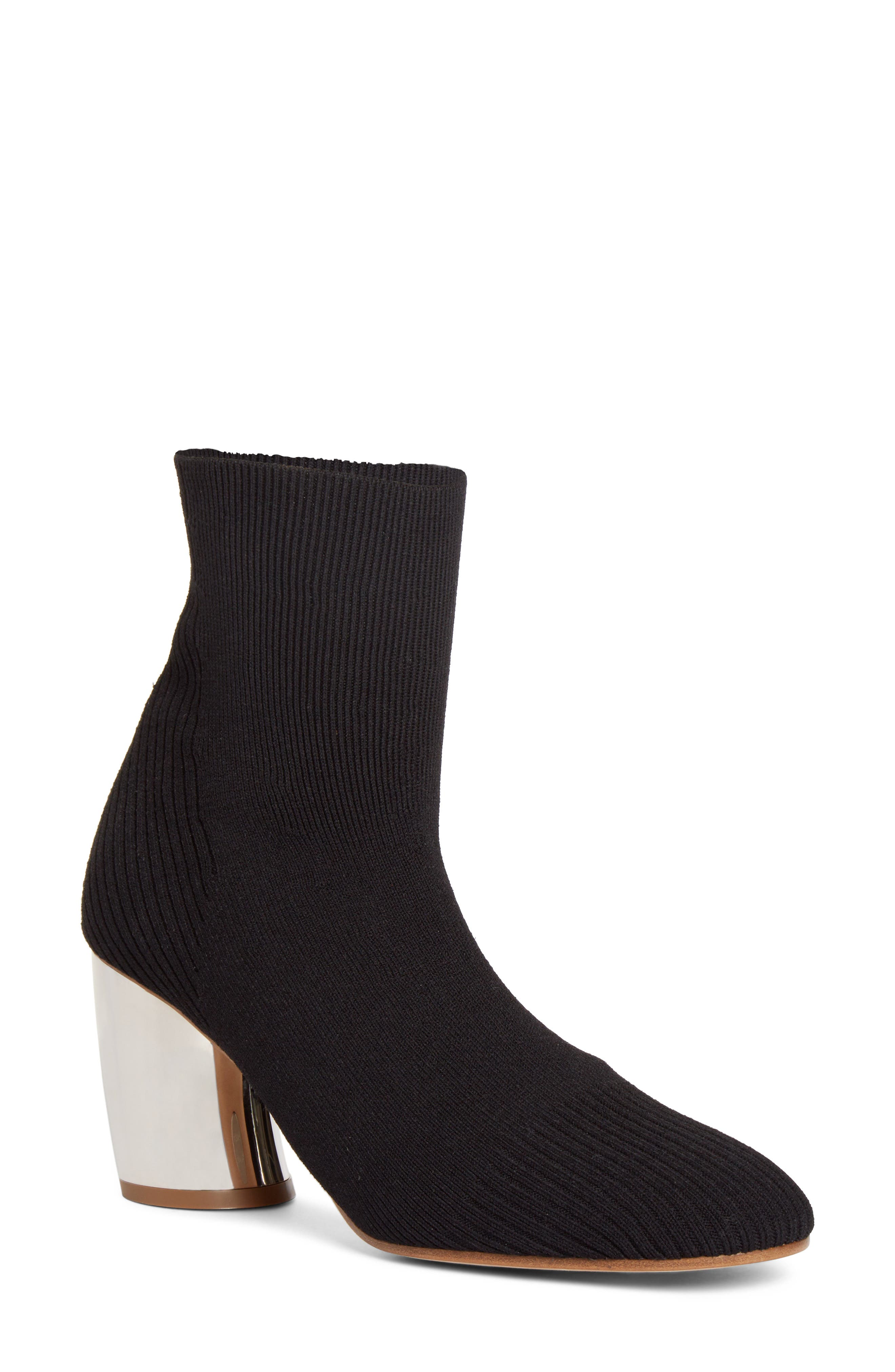 Sock Bootie,                         Main,                         color, 001