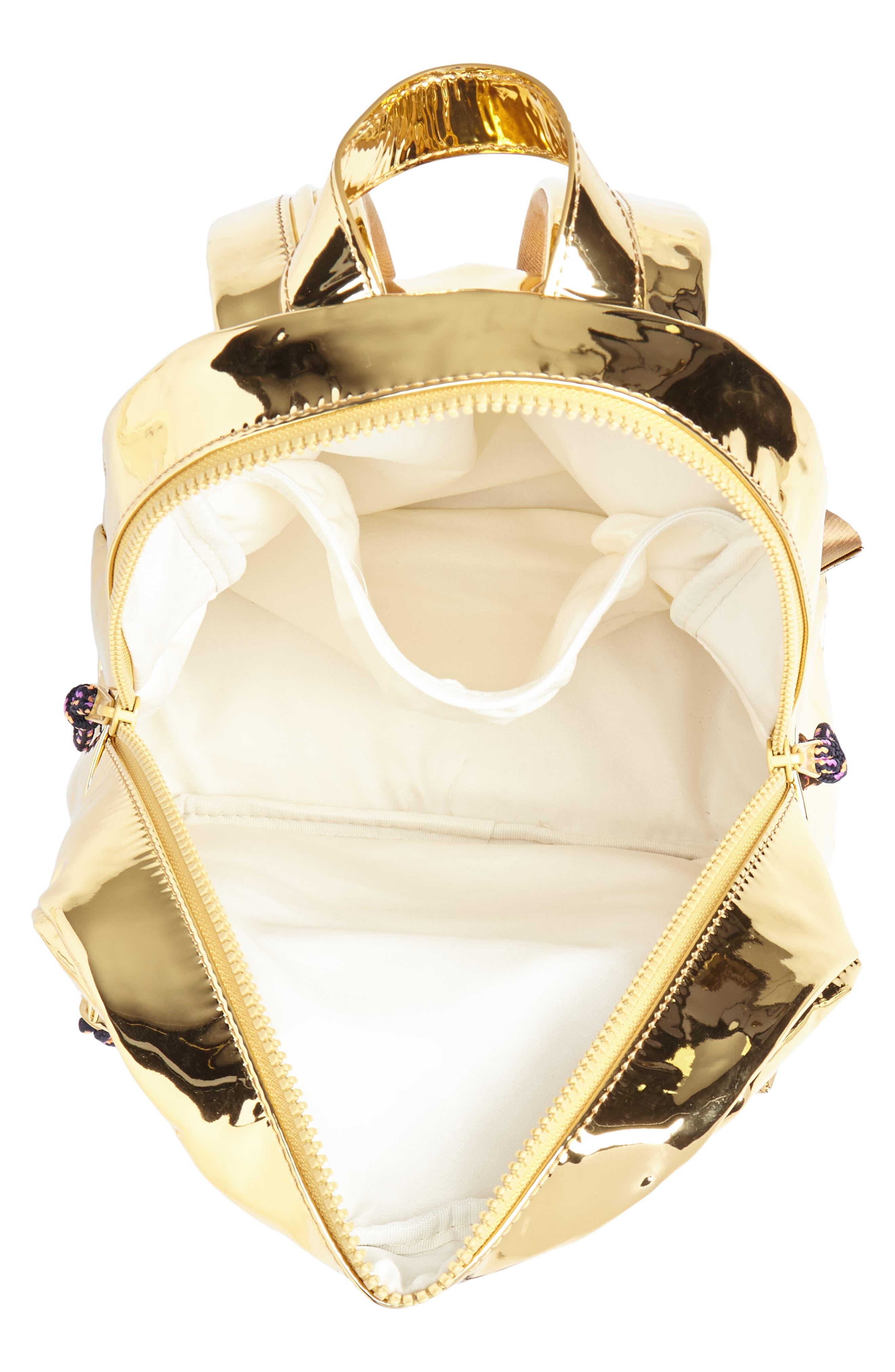 Metallic Mini Backpack,                             Alternate thumbnail 3, color,                             710