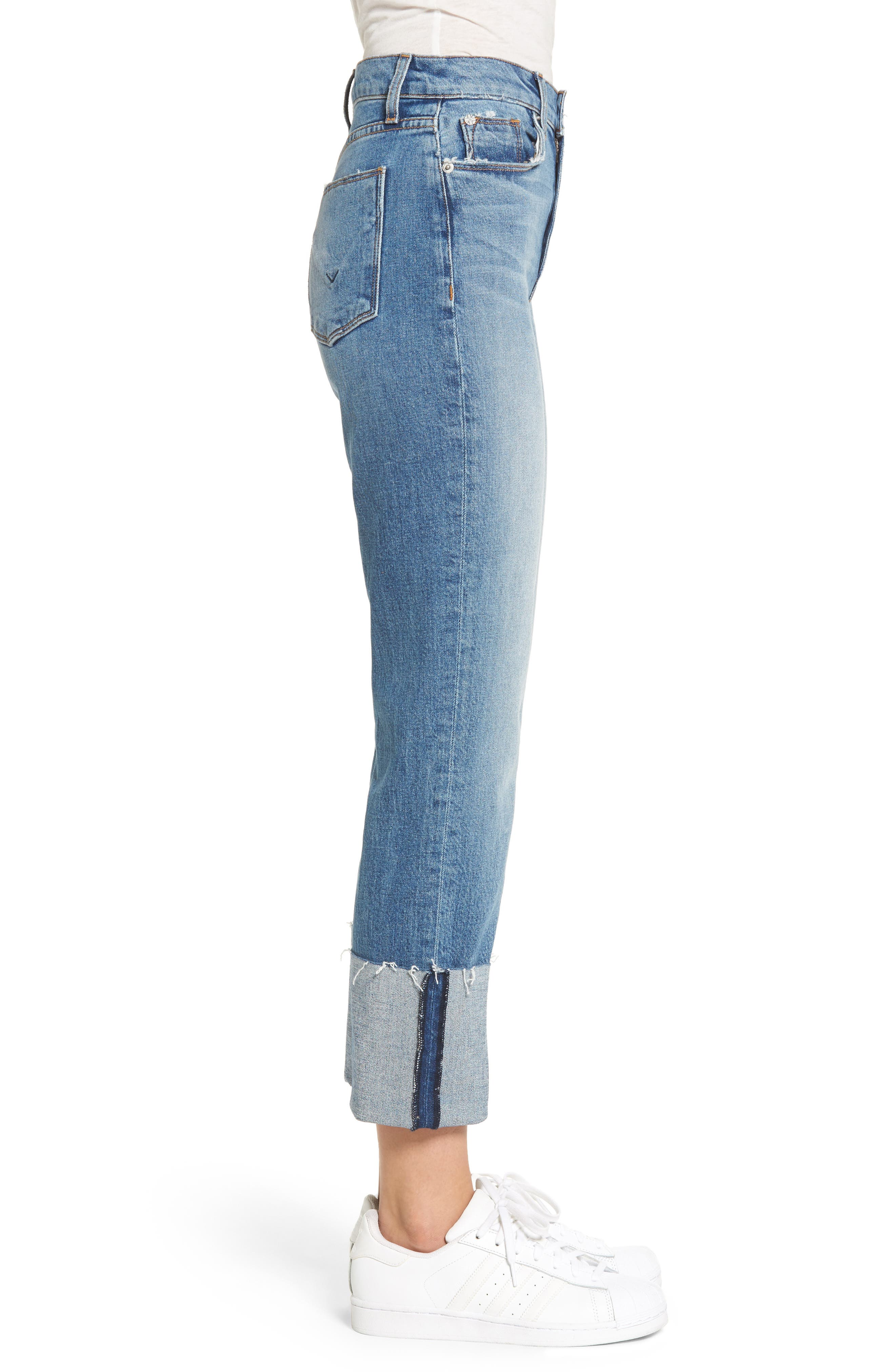 Zoeey High Waist Crop Straight Leg Jeans,                             Alternate thumbnail 10, color,