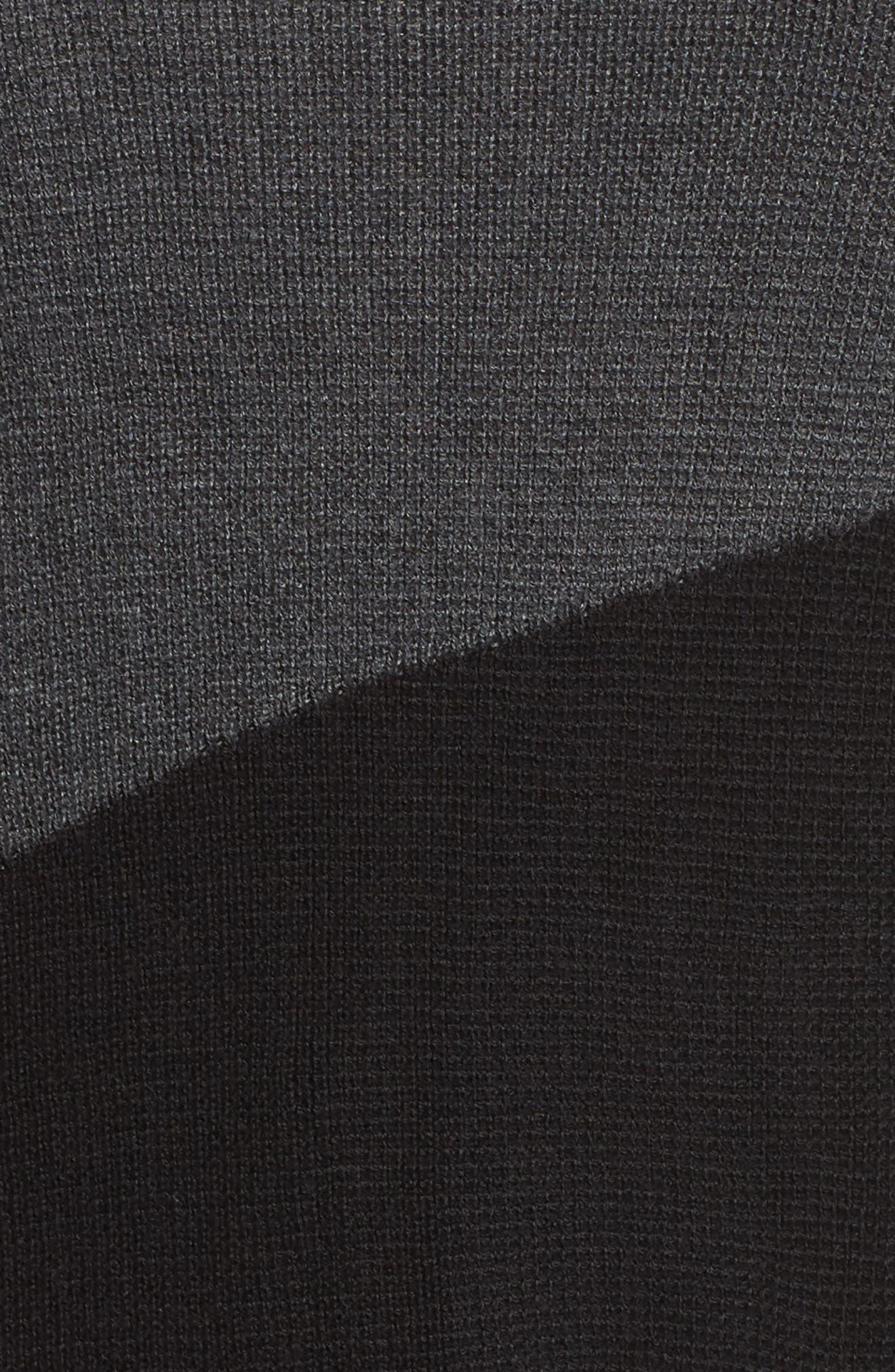 Asymmetrical Colorblock Sweater,                             Alternate thumbnail 5, color,                             MEDIUM HEATHER GREY