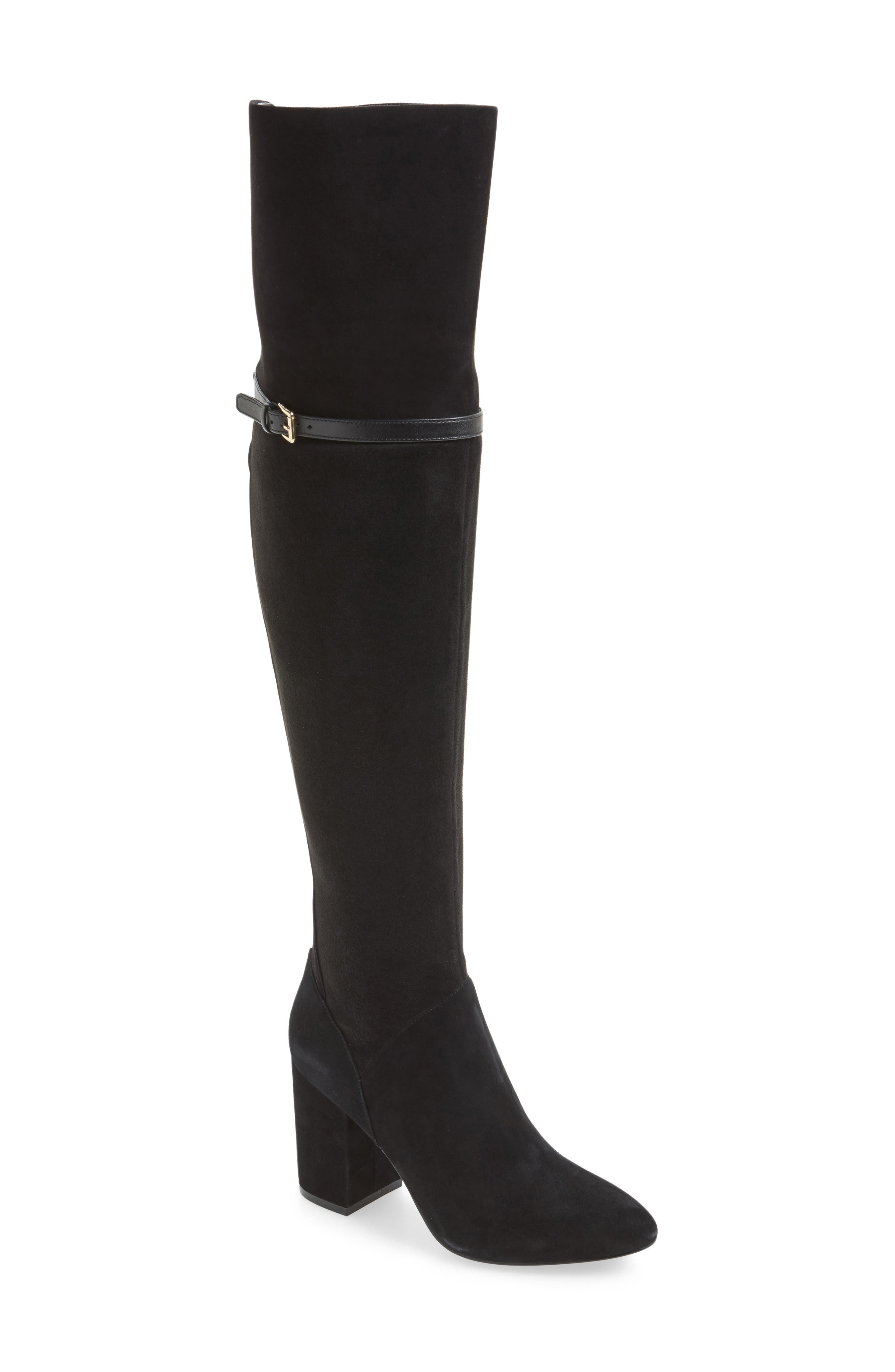 Darcia Over the Knee Boot,                             Main thumbnail 1, color,                             001