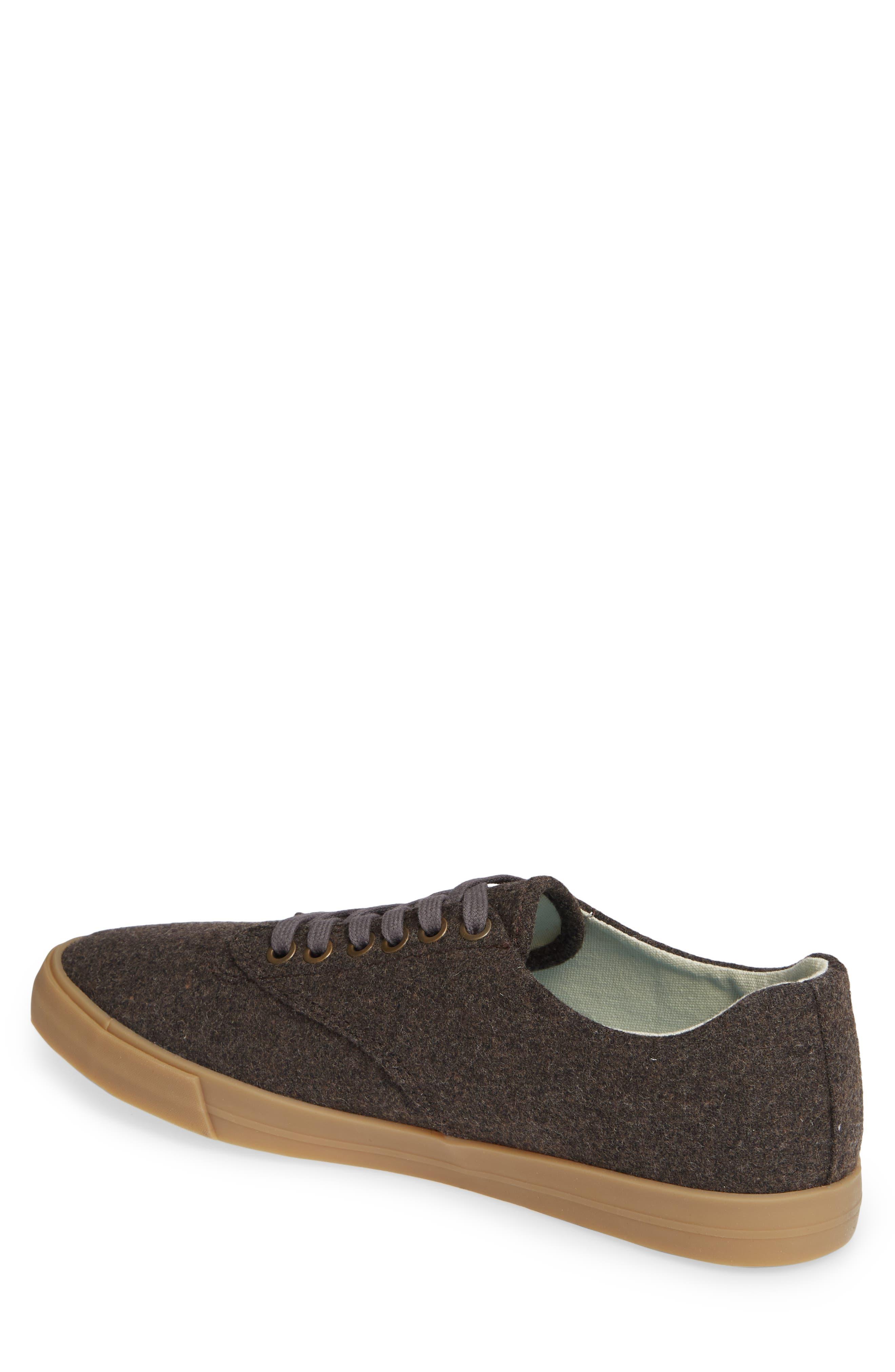 Hermosa Grayers Sneaker,                             Alternate thumbnail 2, color,                             DARK BROWN WOOL FLANNEL