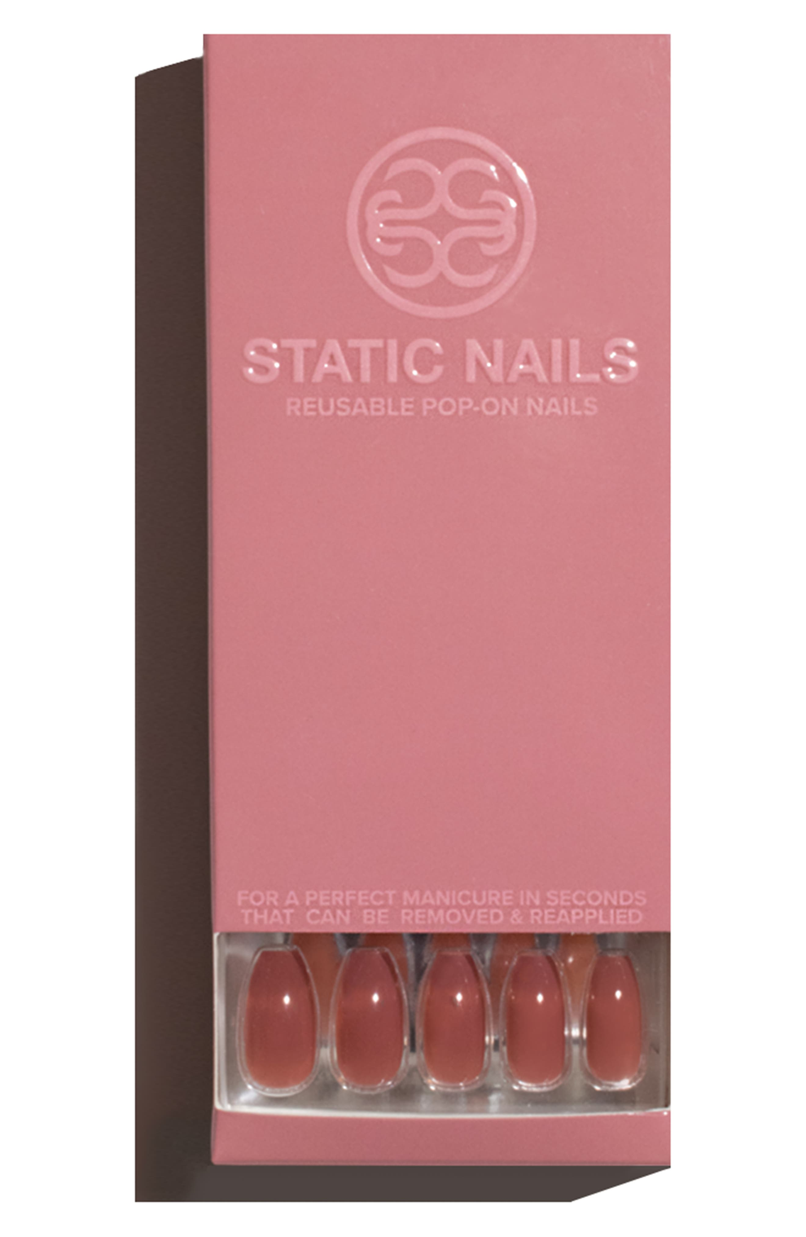 Dusty Rose Pop-On Reusable Manicure Set,                             Alternate thumbnail 2, color,                             DUSTY ROSE