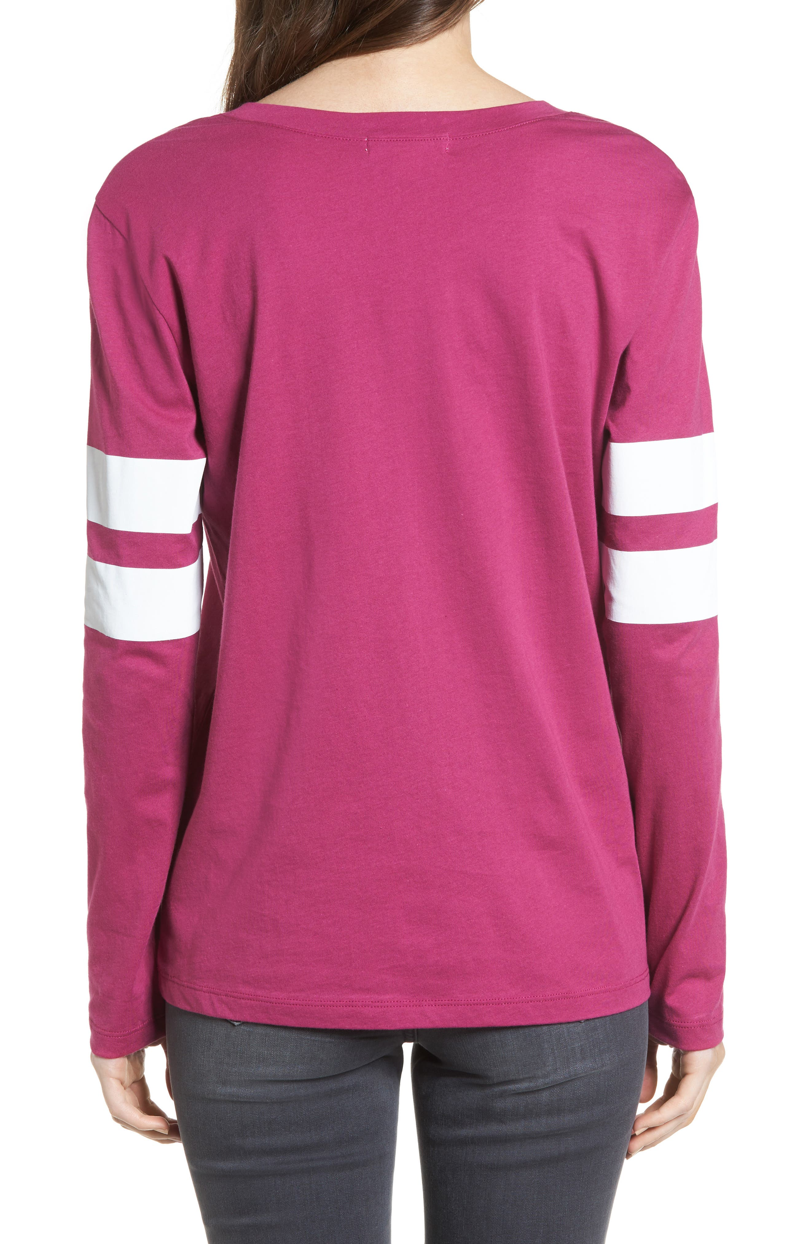 Varsity Stripe Cotton Tee,                             Alternate thumbnail 35, color,