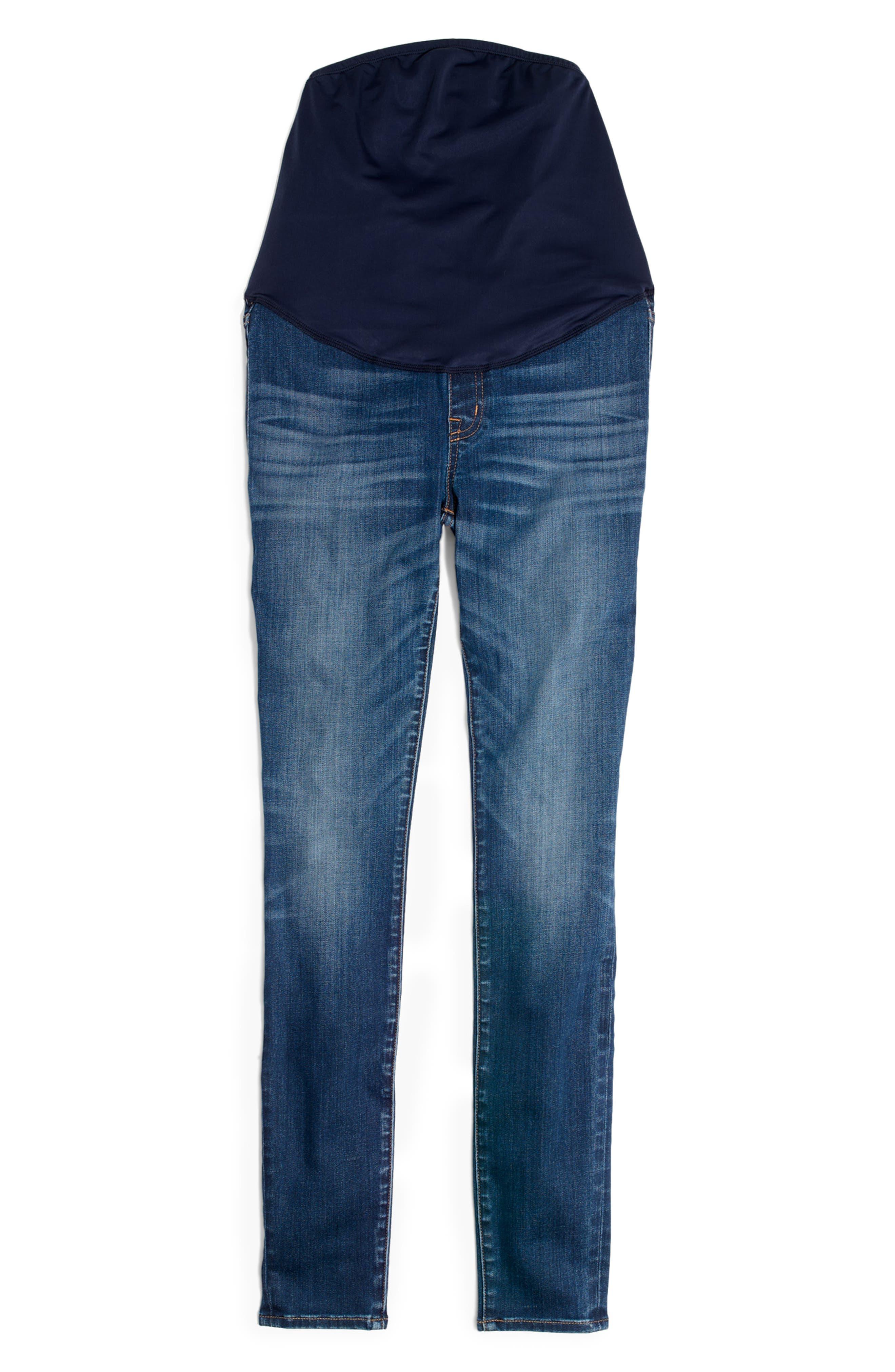 Maternity Skinny Jeans,                             Alternate thumbnail 5, color,                             DANNY