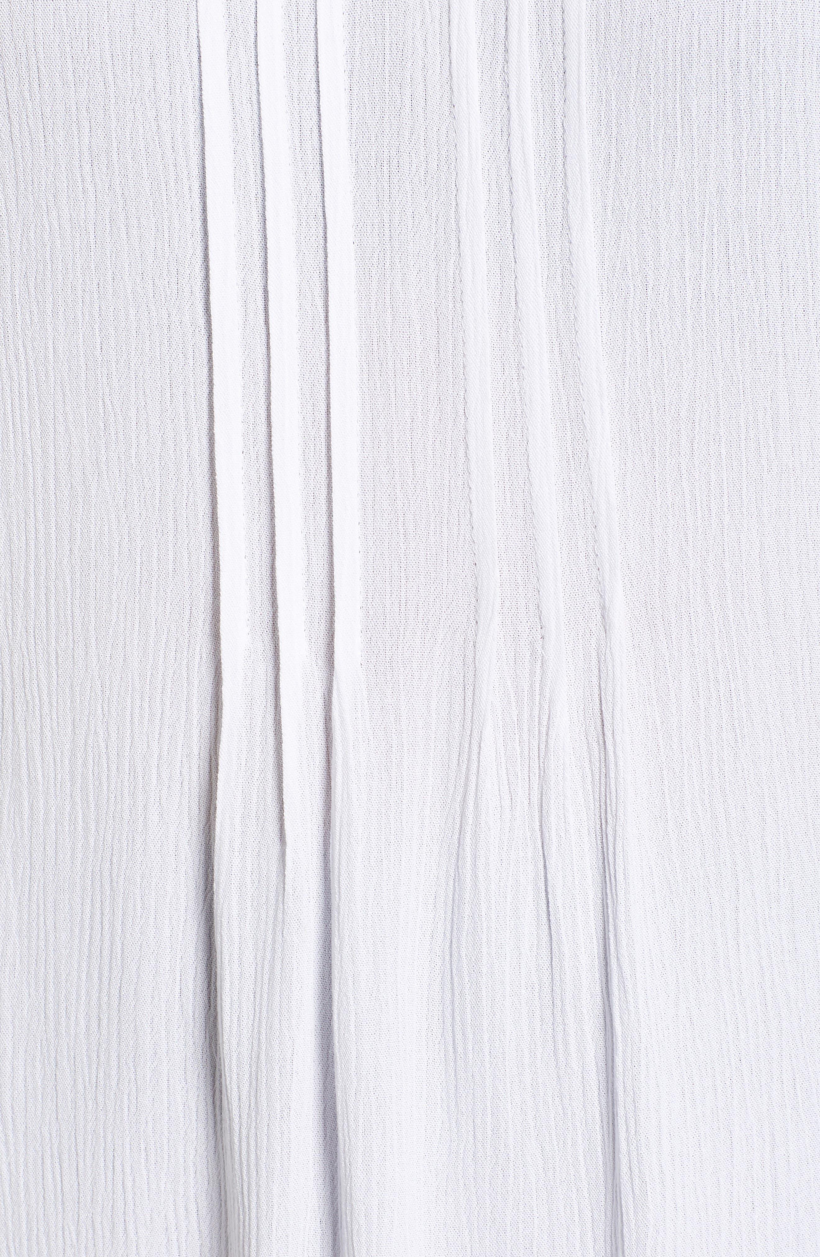 Pintuck Gauze Top,                             Alternate thumbnail 6, color,                             ULTRA WHITE