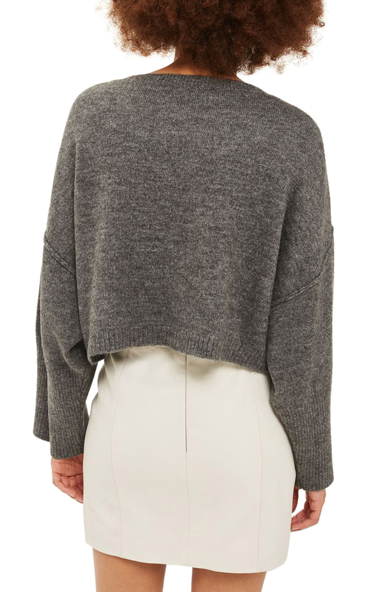 Wide Sleeve Crop Sweater,                             Alternate thumbnail 2, color,                             021