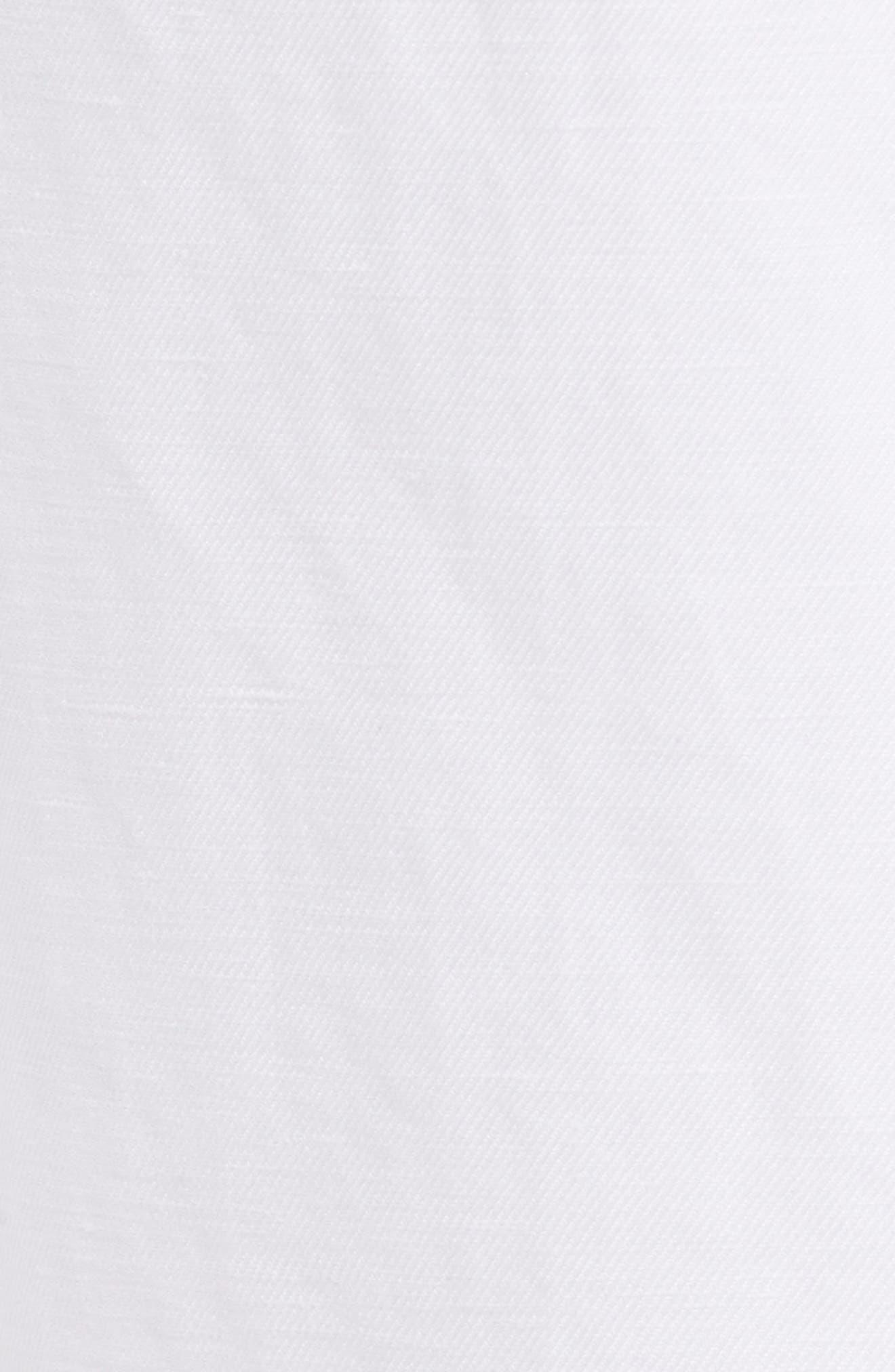 Pleated Wide Leg Linen & Cotton Pants,                             Alternate thumbnail 6, color,                             100