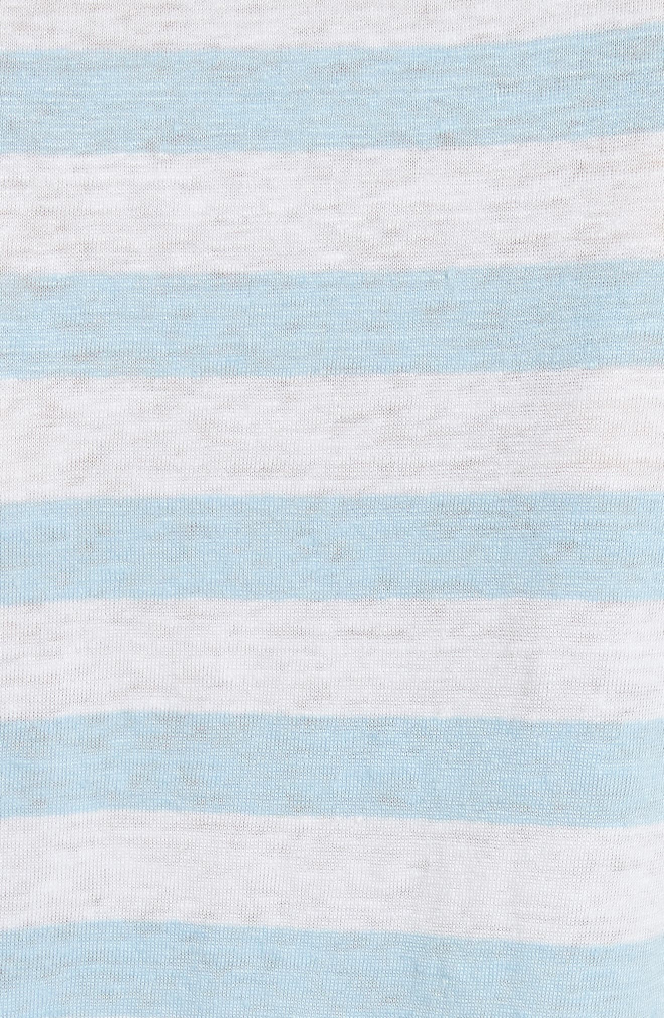 Stripe Raglan Linen Tee,                             Alternate thumbnail 5, color,                             420