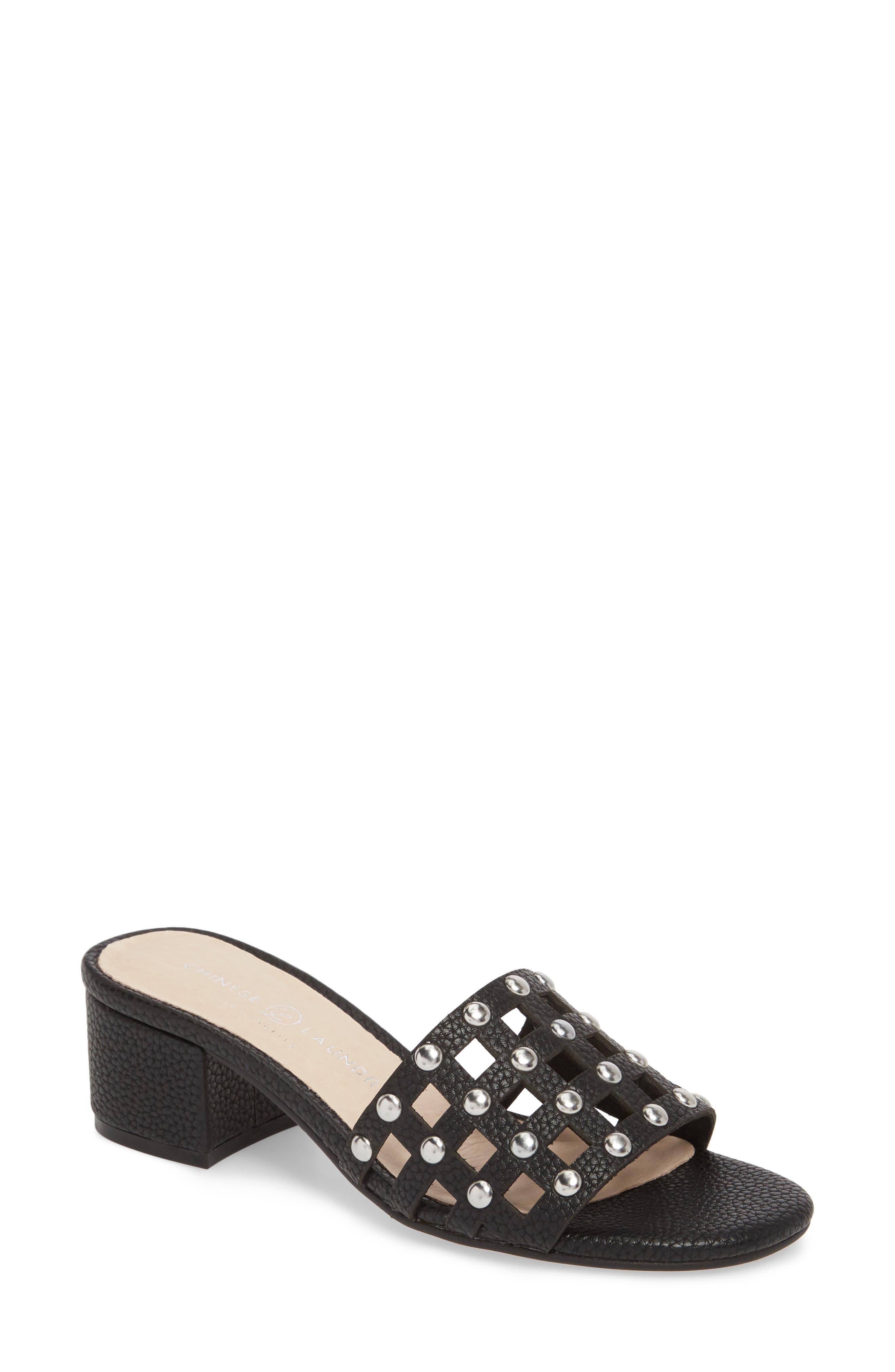 Megs Slide Sandal,                         Main,                         color, BLACK