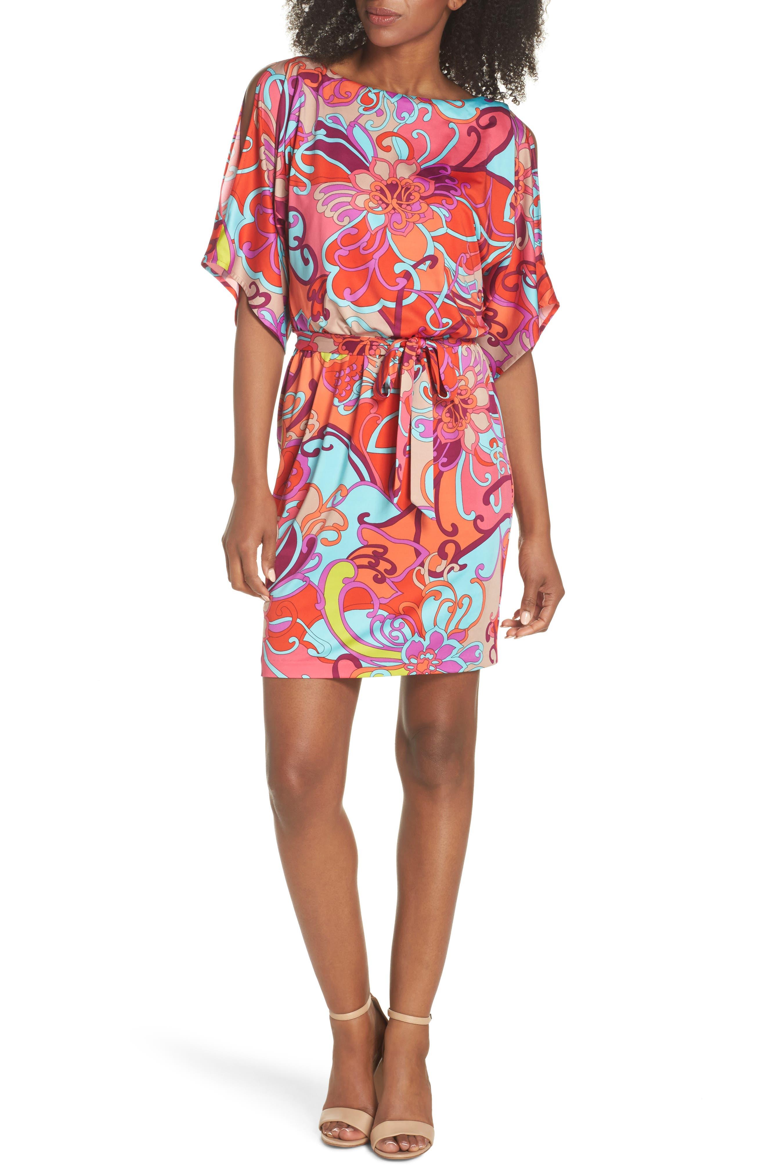 Bernice Print Dress,                             Alternate thumbnail 5, color,