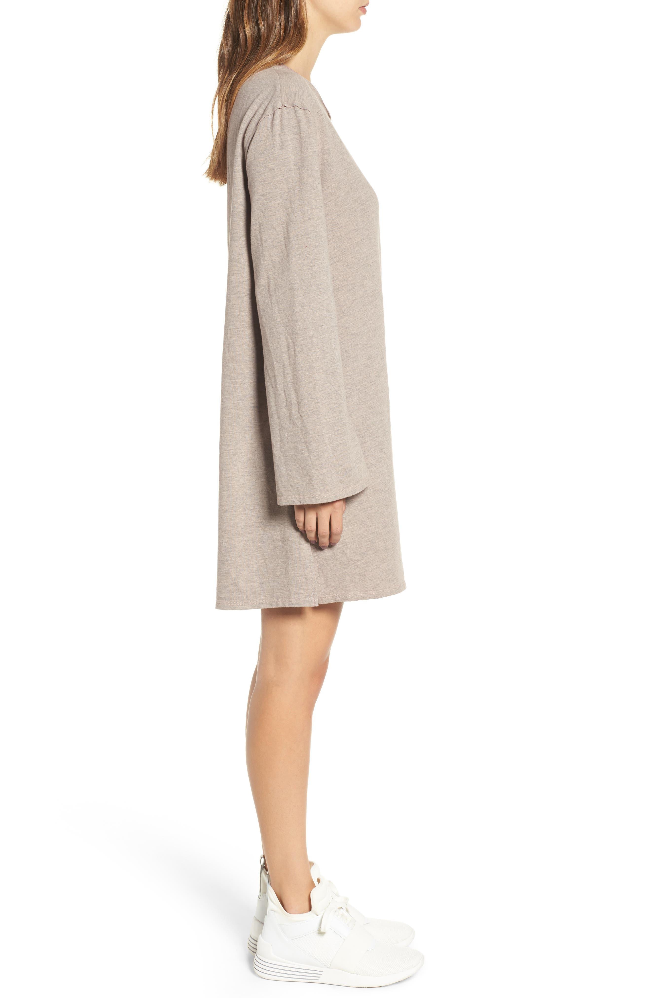 Low Back Sweatshirt Dress,                             Alternate thumbnail 3, color,                             650