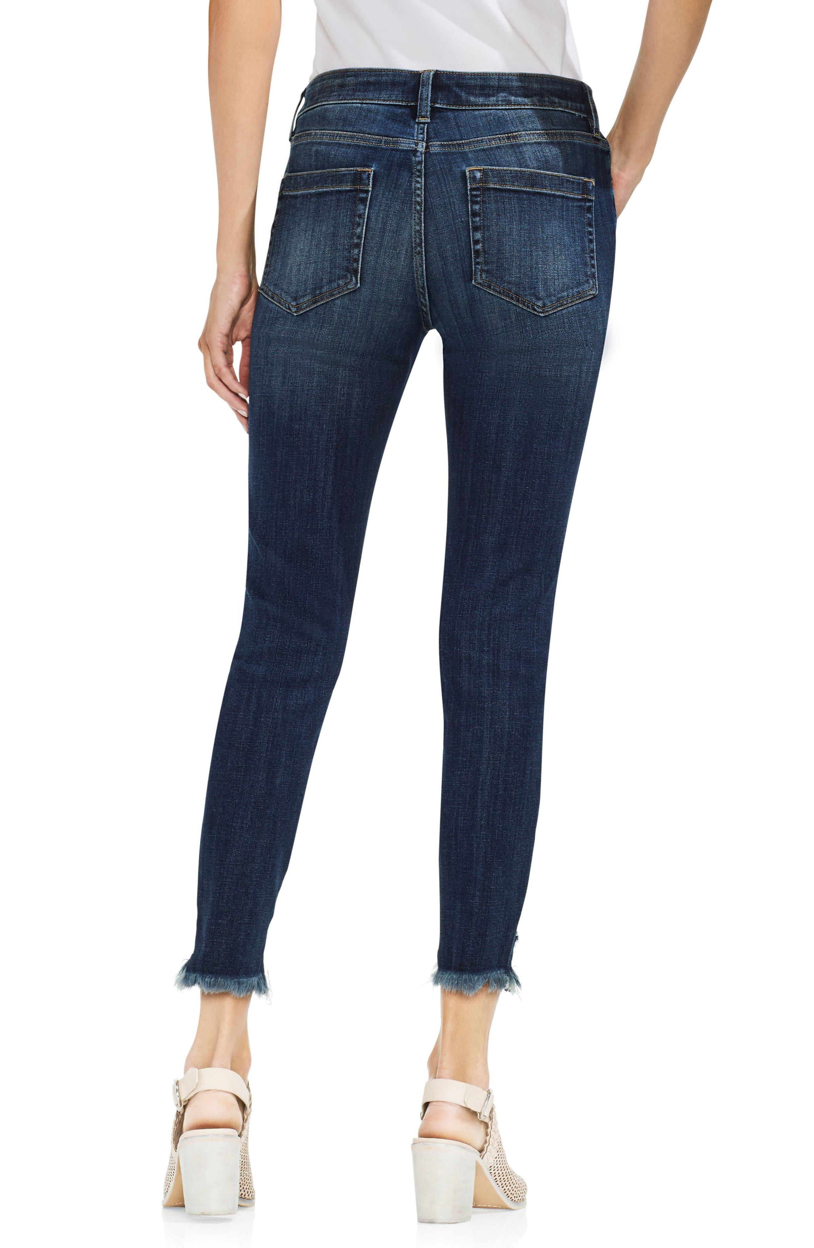 Uneven Hem Skinny Jeans,                             Alternate thumbnail 2, color,                             400