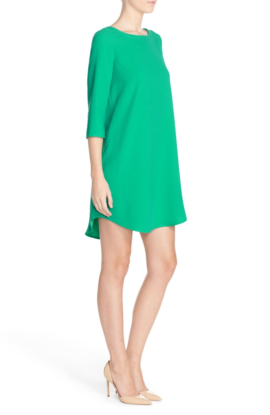 'Jazlyn' Crepe Shift Dress,                             Alternate thumbnail 18, color,