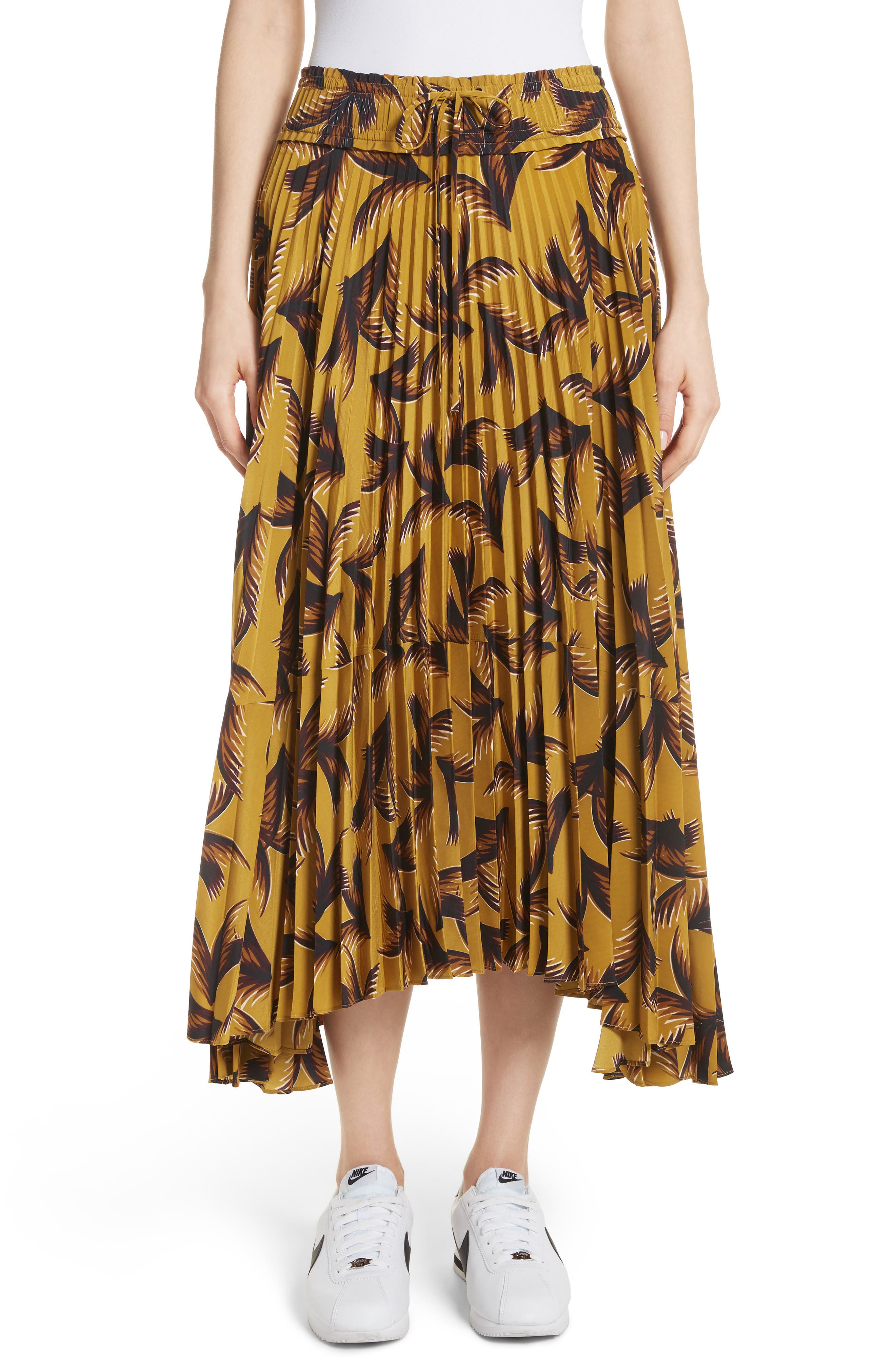 Maya Pleated A-Line Skirt,                         Main,                         color,