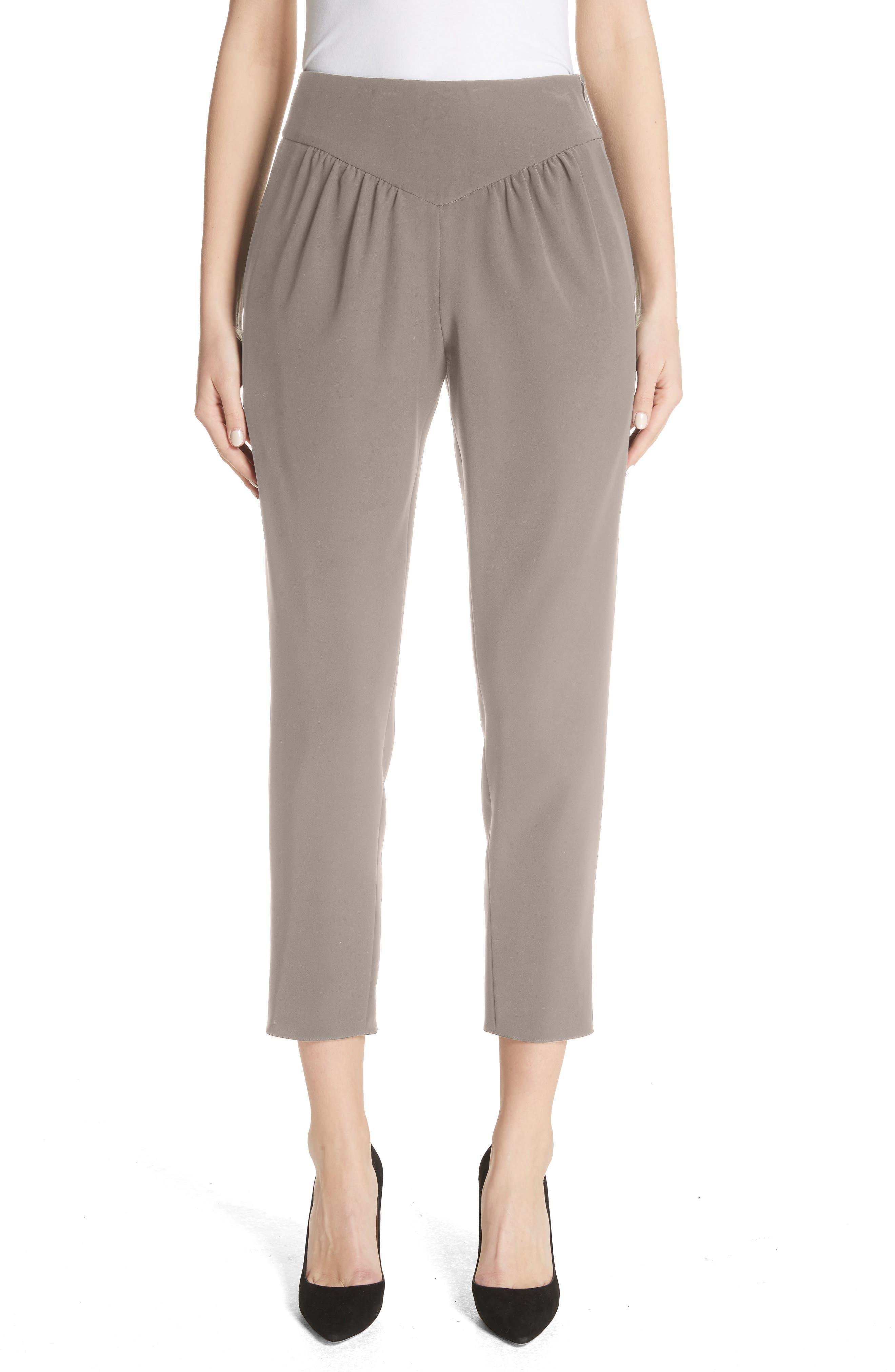 Yoke Waist Crop Pants,                         Main,                         color,