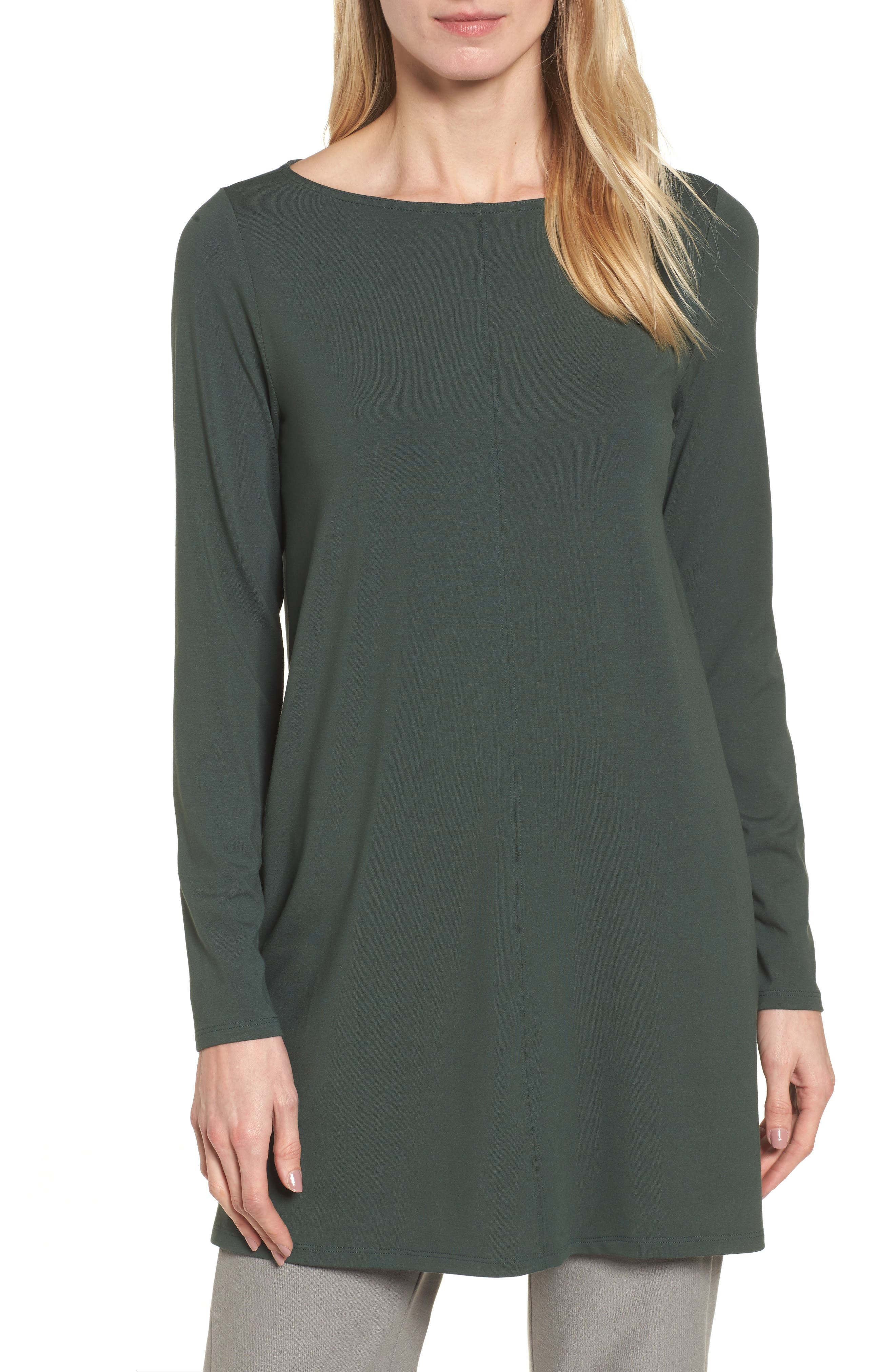 Jersey Bateau Neck Tunic,                             Main thumbnail 1, color,                             351