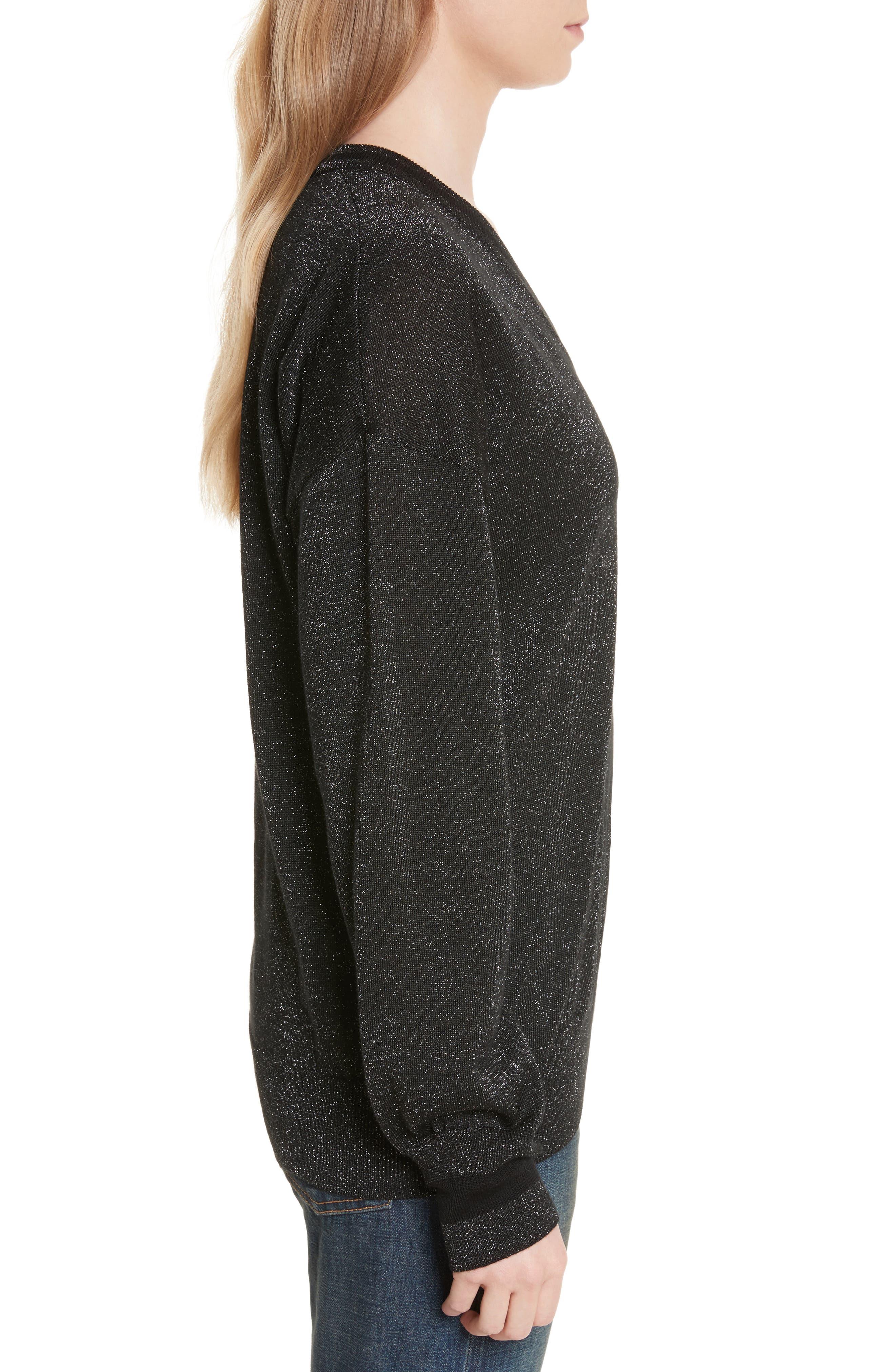 Lucinda V-Neck Sweater,                             Alternate thumbnail 3, color,