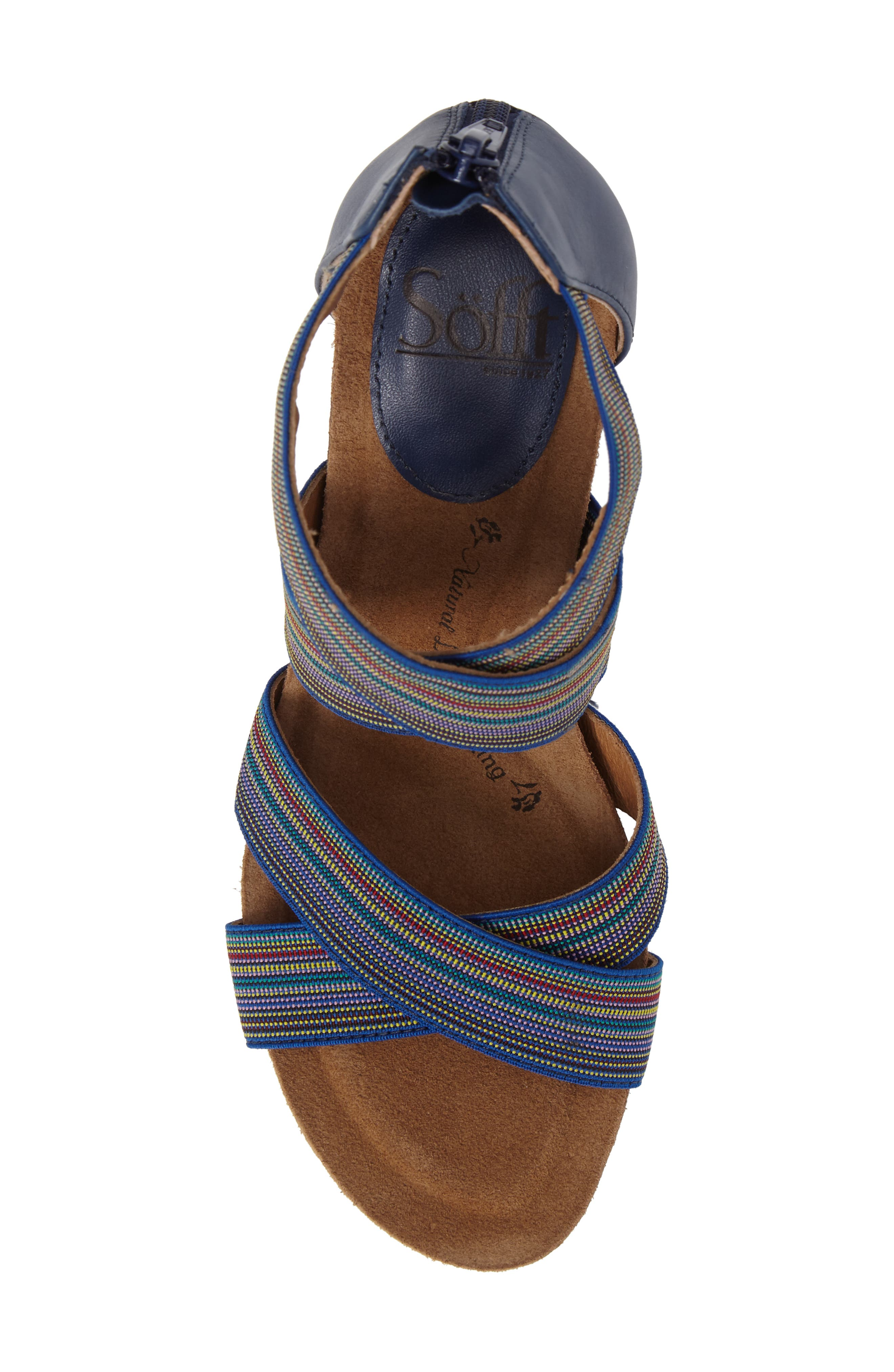 Cary Cross Strap Wedge Sandal,                             Alternate thumbnail 14, color,