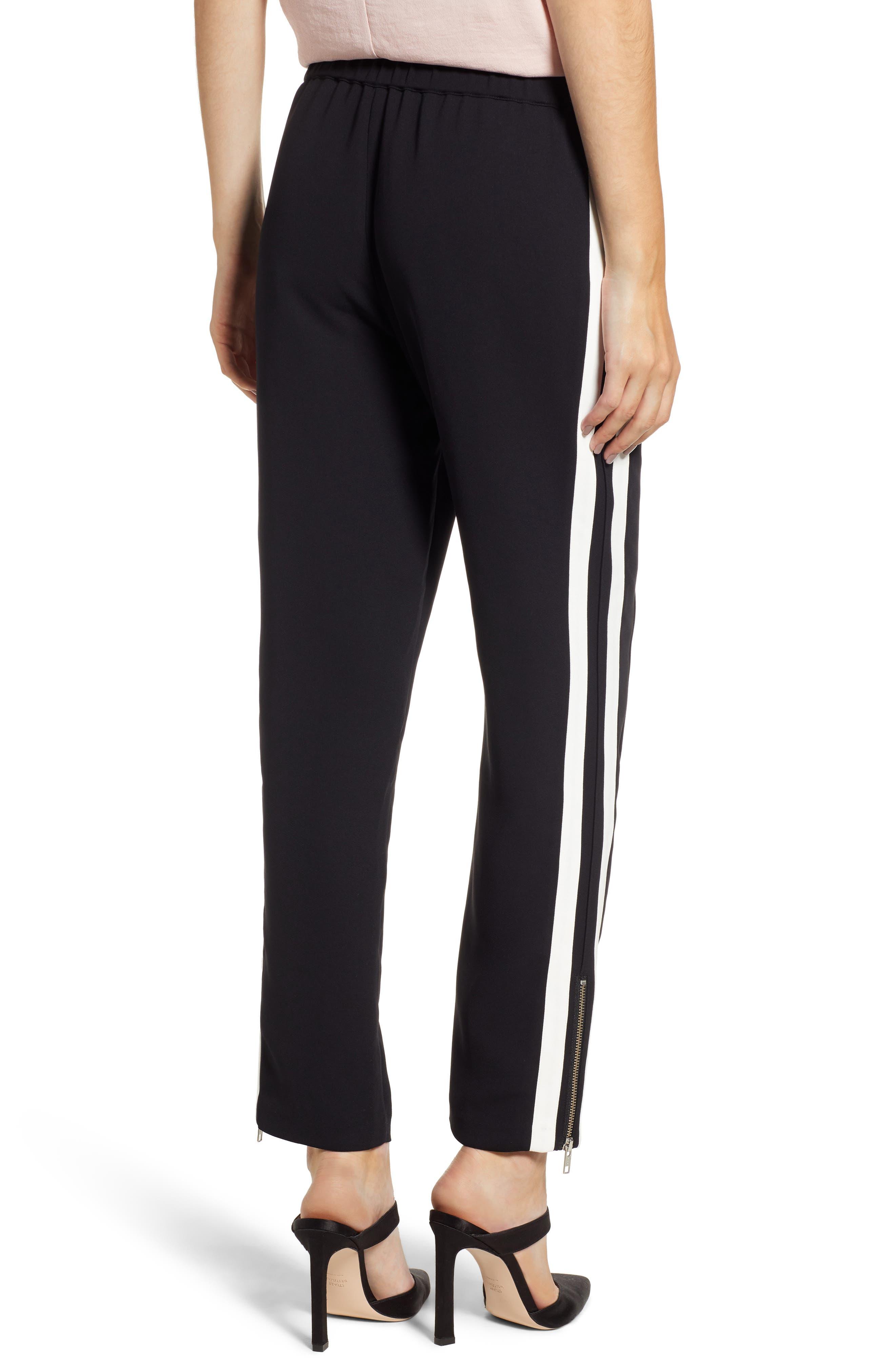 Side Stripe Track Pants,                             Alternate thumbnail 2, color,                             BLACK COMBO