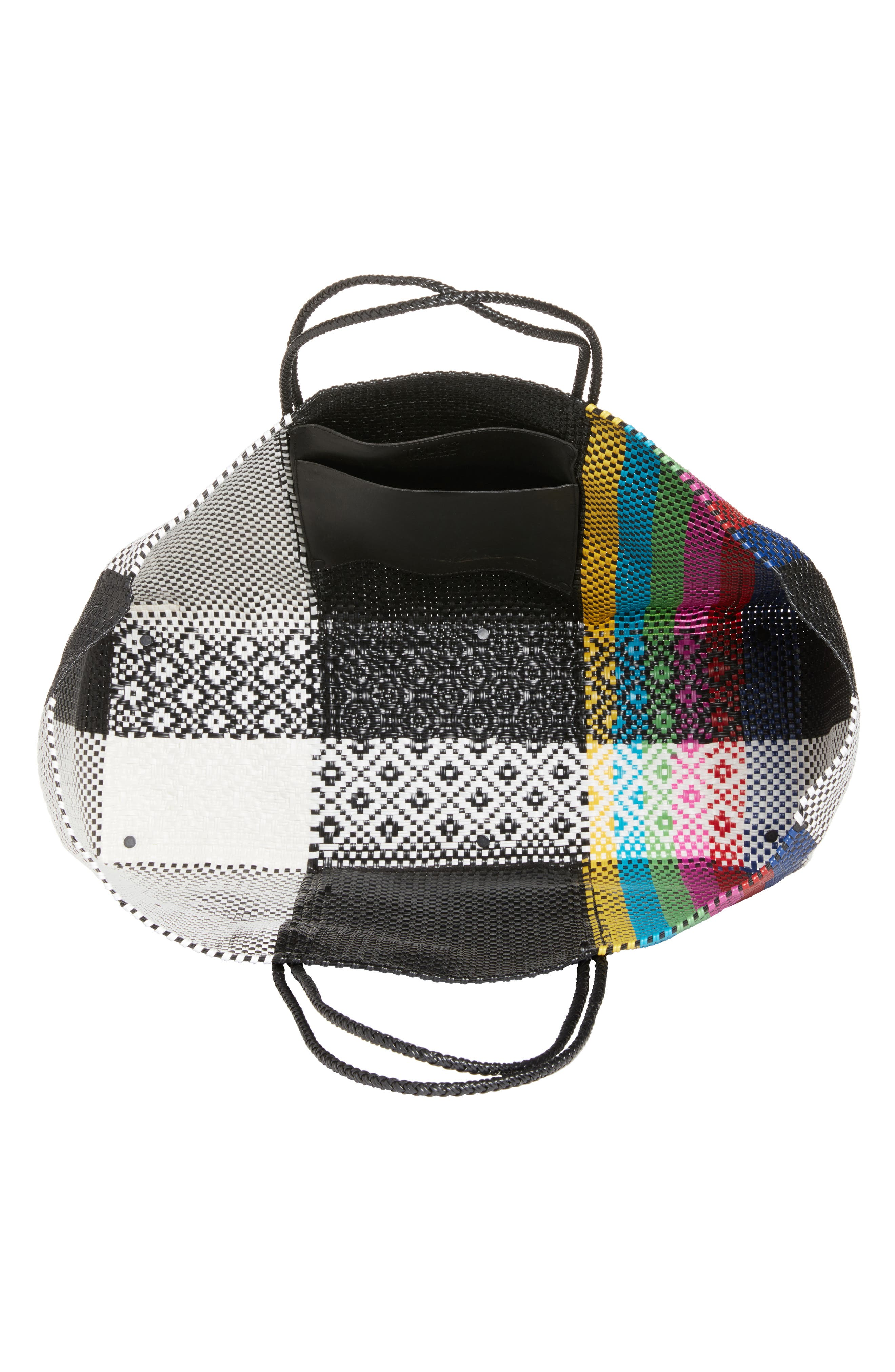 Woven Stripe Weekend Tote,                             Alternate thumbnail 4, color,                             TV COLOR