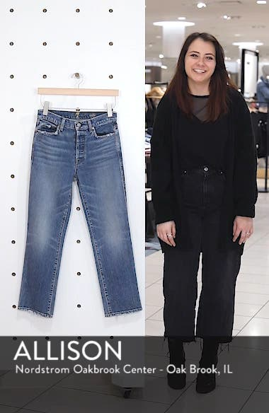 Edie High Waist Crop Straight Leg Jeans, sales video thumbnail