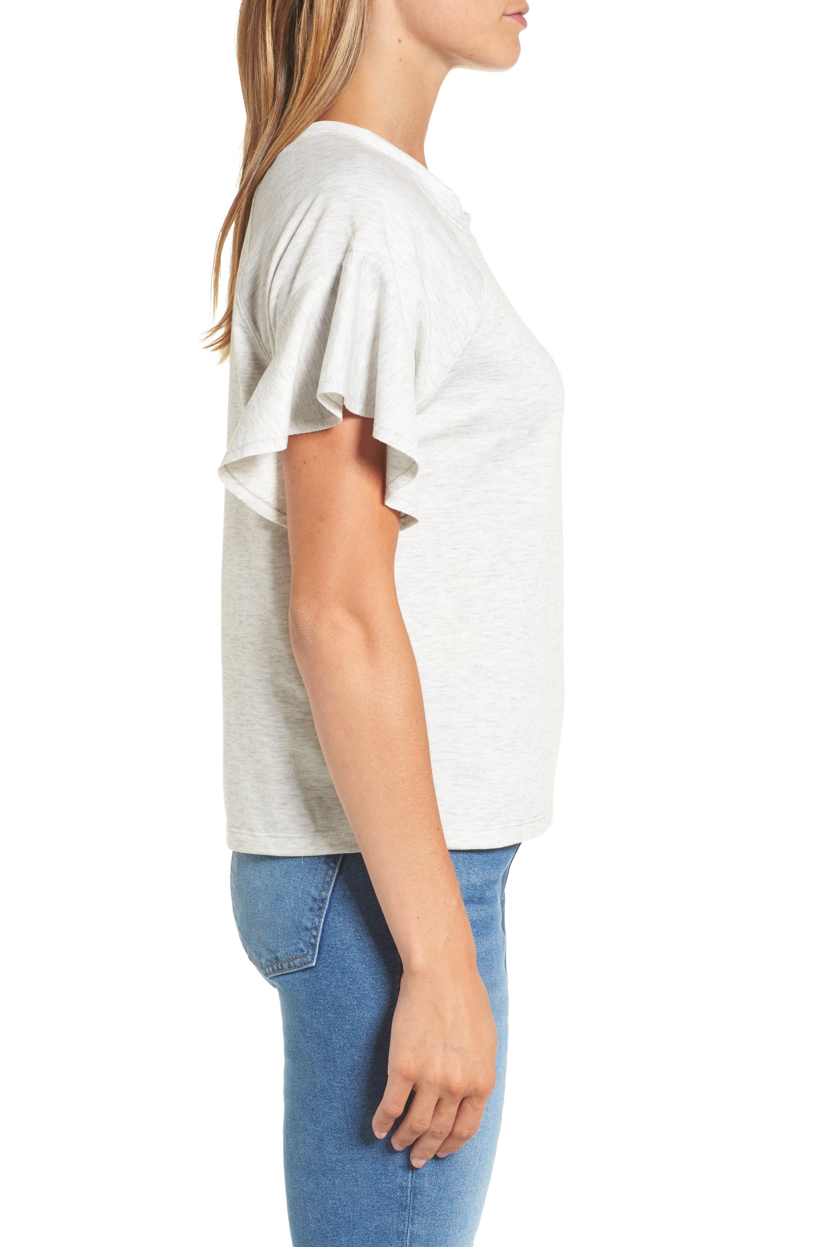 Ruffle Sleeve Sweatshirt,                             Alternate thumbnail 9, color,