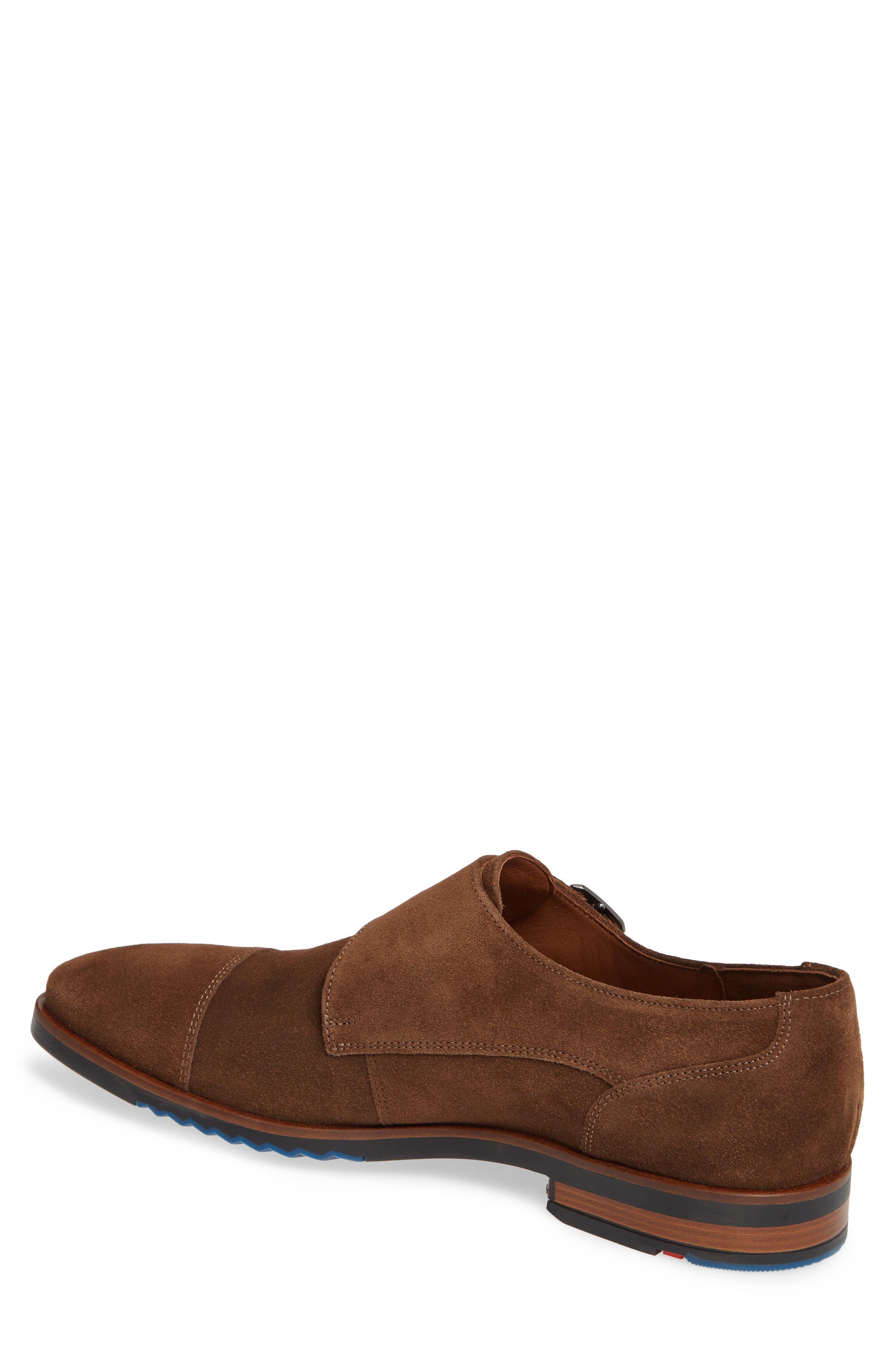 Darrow Double Monk Strap Shoe,                             Alternate thumbnail 2, color,                             CIGAR BROWN SUEDE