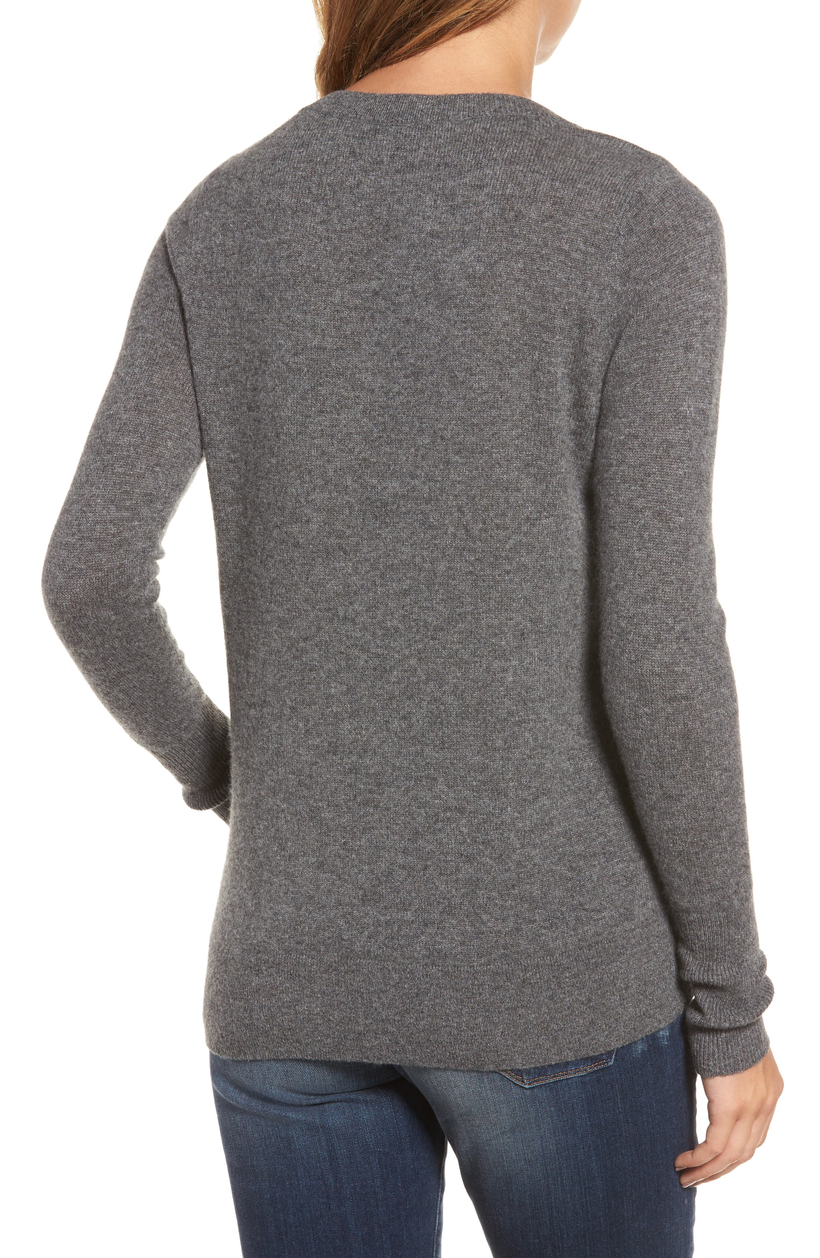 V-Neck Cashmere Sweater,                             Alternate thumbnail 21, color,