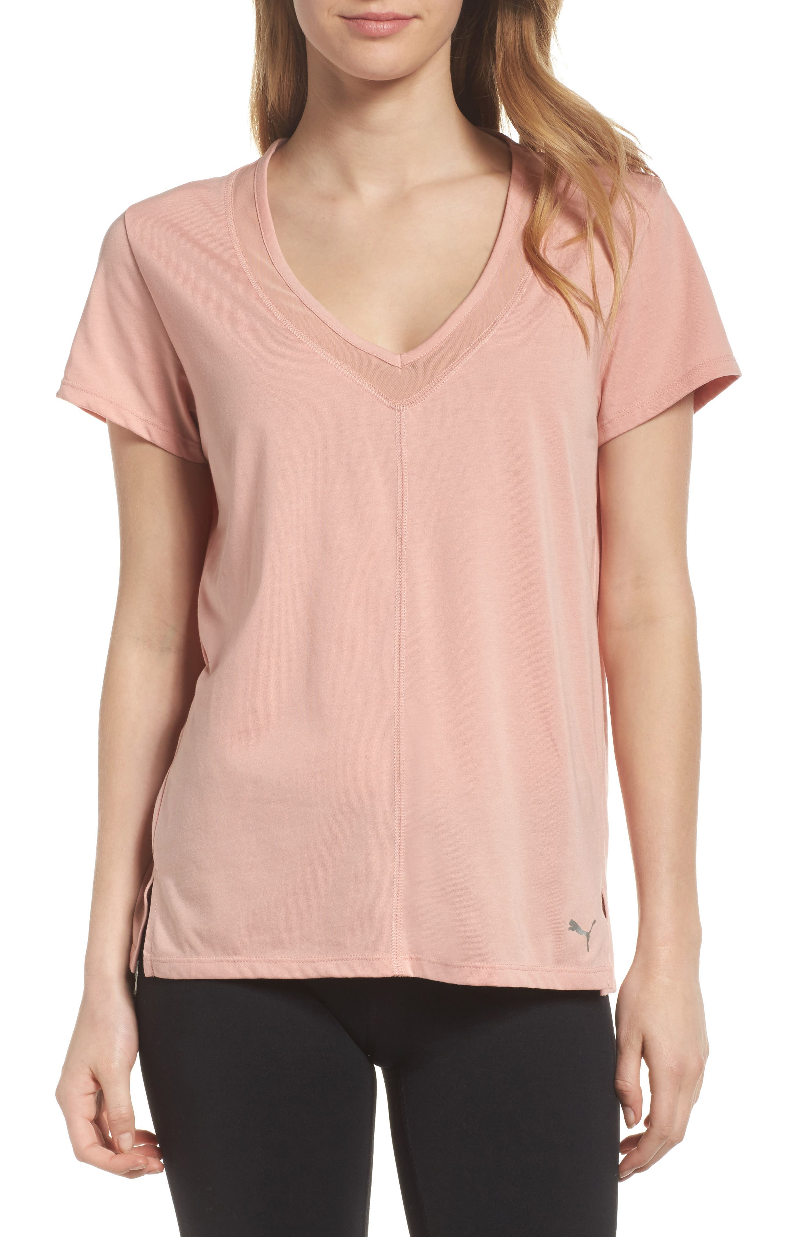 Slouchy V-Neck Tee,                         Main,                         color, 251