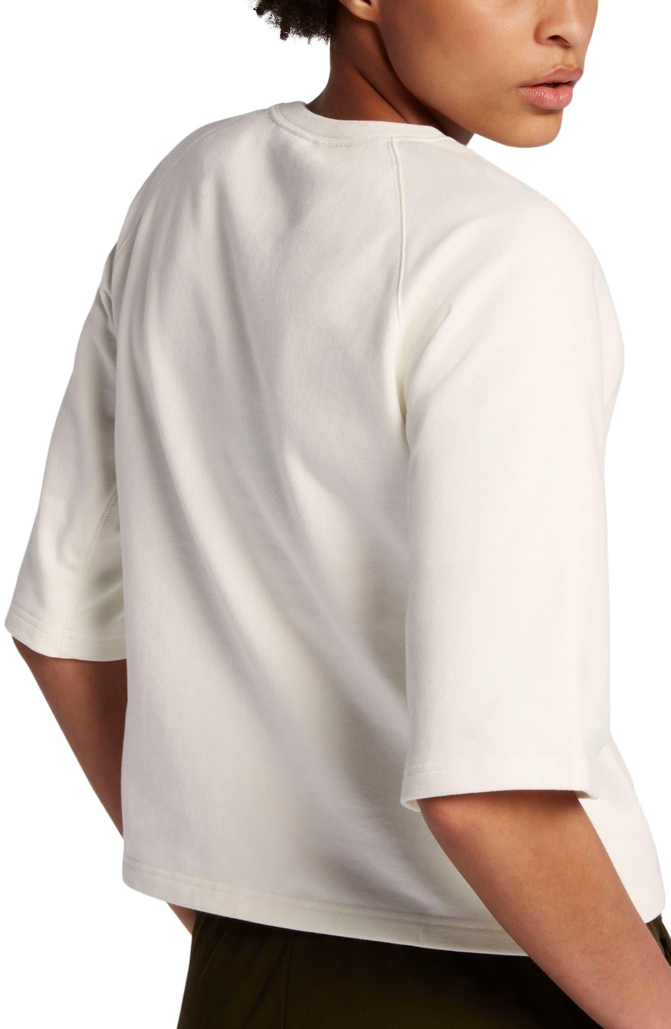 NikeLab Essential Fleece Top,                             Alternate thumbnail 6, color,