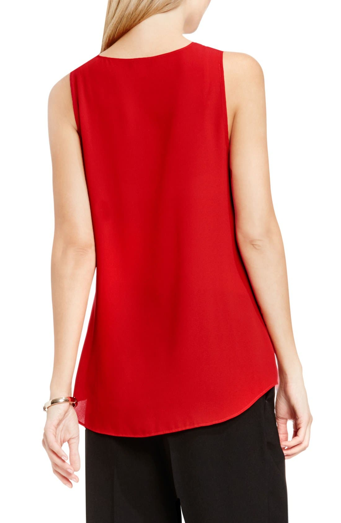 Drape Front V-Neck Sleeveless Blouse,                             Alternate thumbnail 52, color,