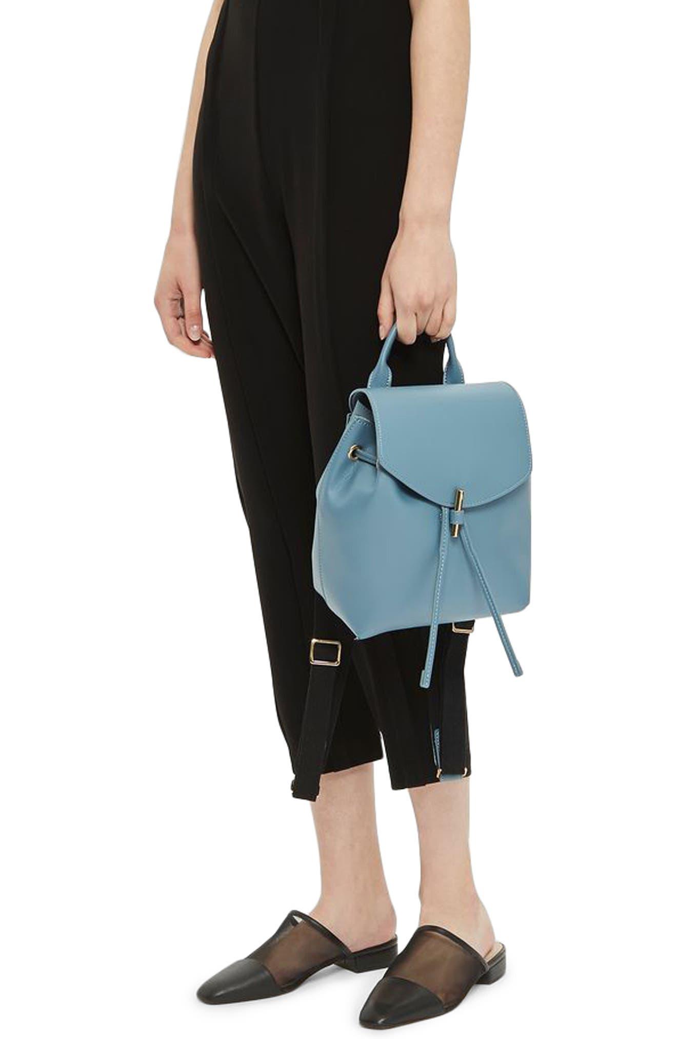 Blake Mini Faux Leather Backpack,                             Alternate thumbnail 15, color,